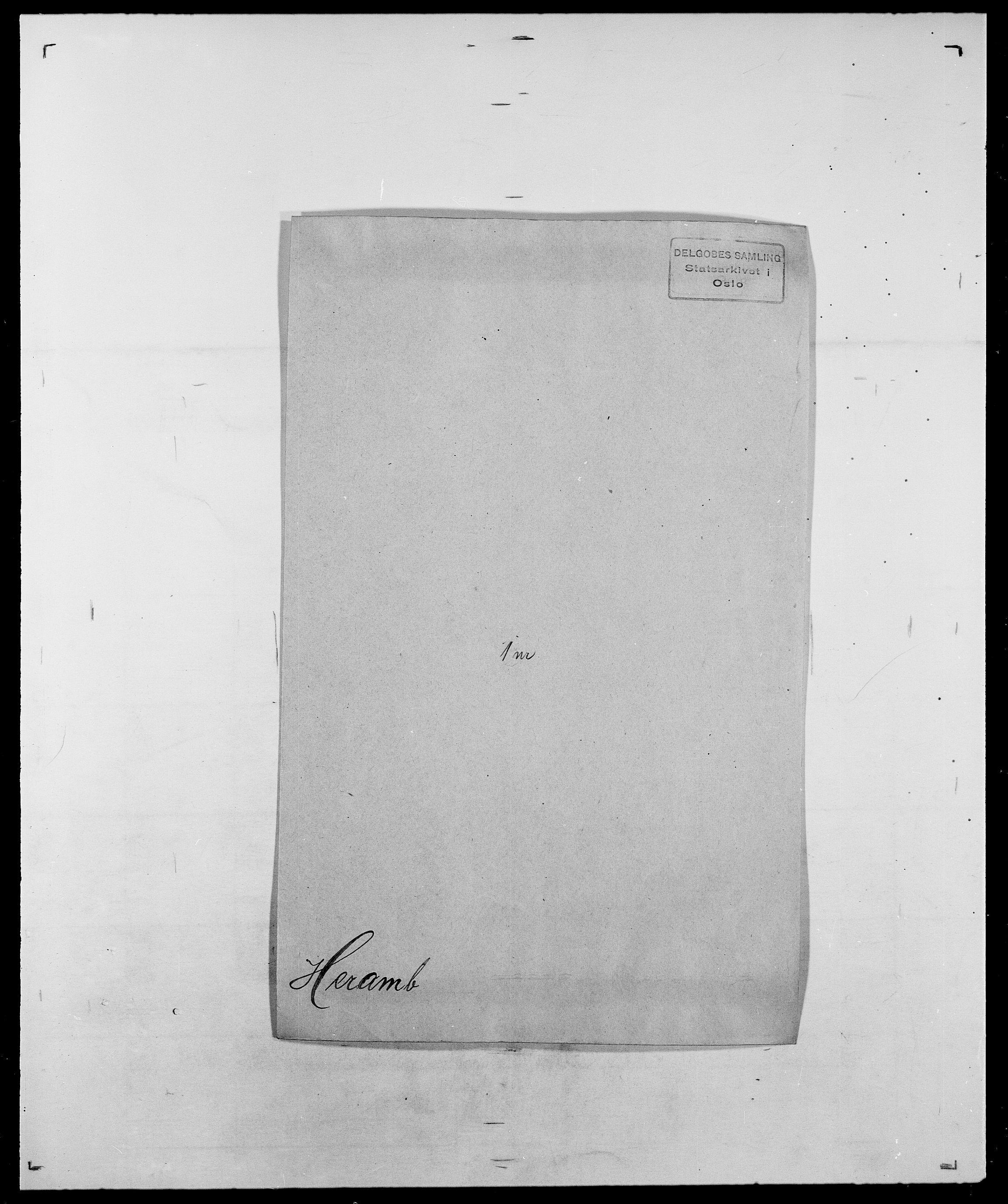 SAO, Delgobe, Charles Antoine - samling, D/Da/L0017: Helander - Hjørne, s. 217