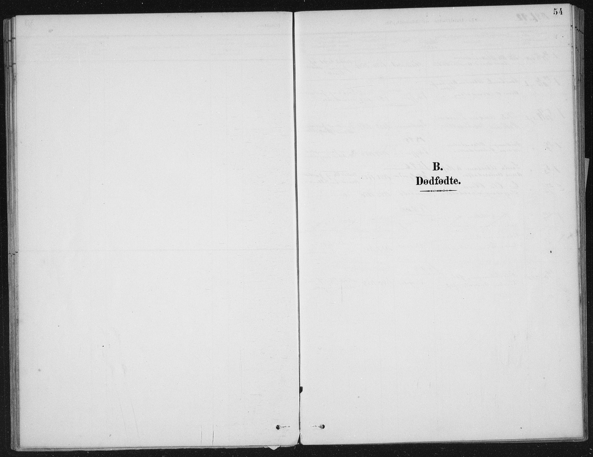 SAB, Kinn sokneprestembete, H/Haa/Haae/L0001: Ministerialbok nr. E 1, 1890-1916, s. 54