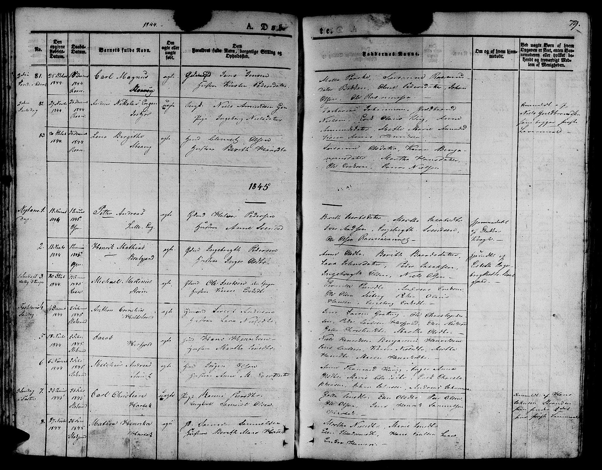 SAT, Ministerialprotokoller, klokkerbøker og fødselsregistre - Sør-Trøndelag, 657/L0703: Ministerialbok nr. 657A04, 1831-1846, s. 79