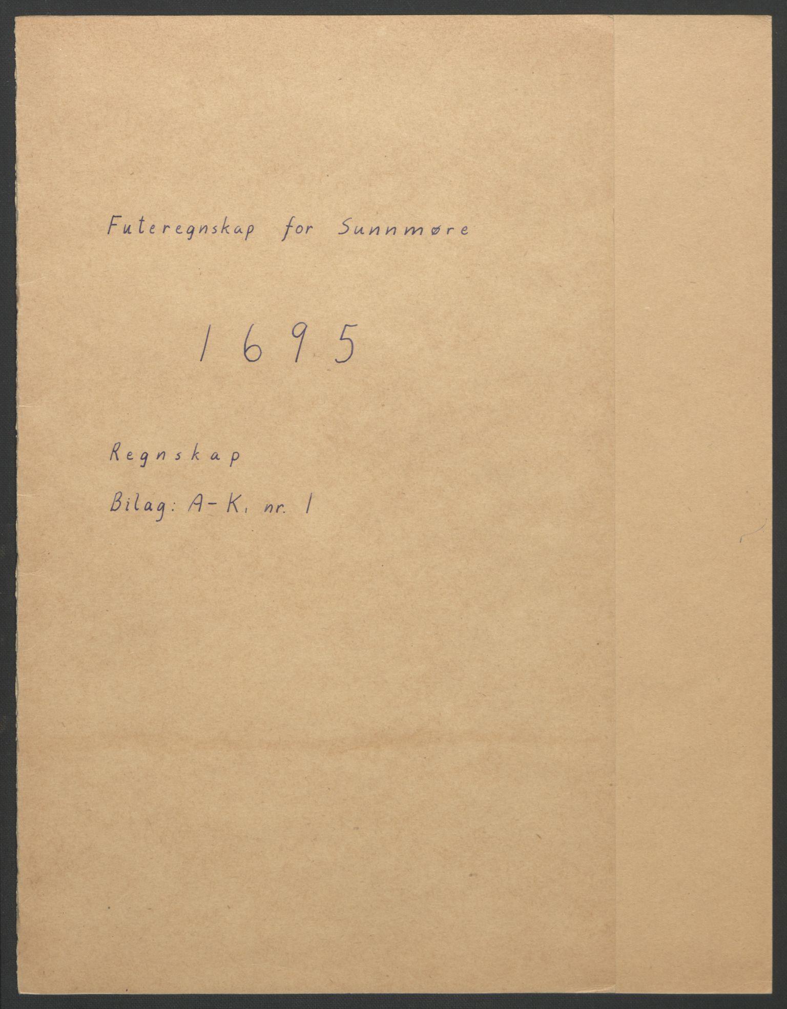 RA, Rentekammeret inntil 1814, Reviderte regnskaper, Fogderegnskap, R54/L3555: Fogderegnskap Sunnmøre, 1694-1695, s. 182