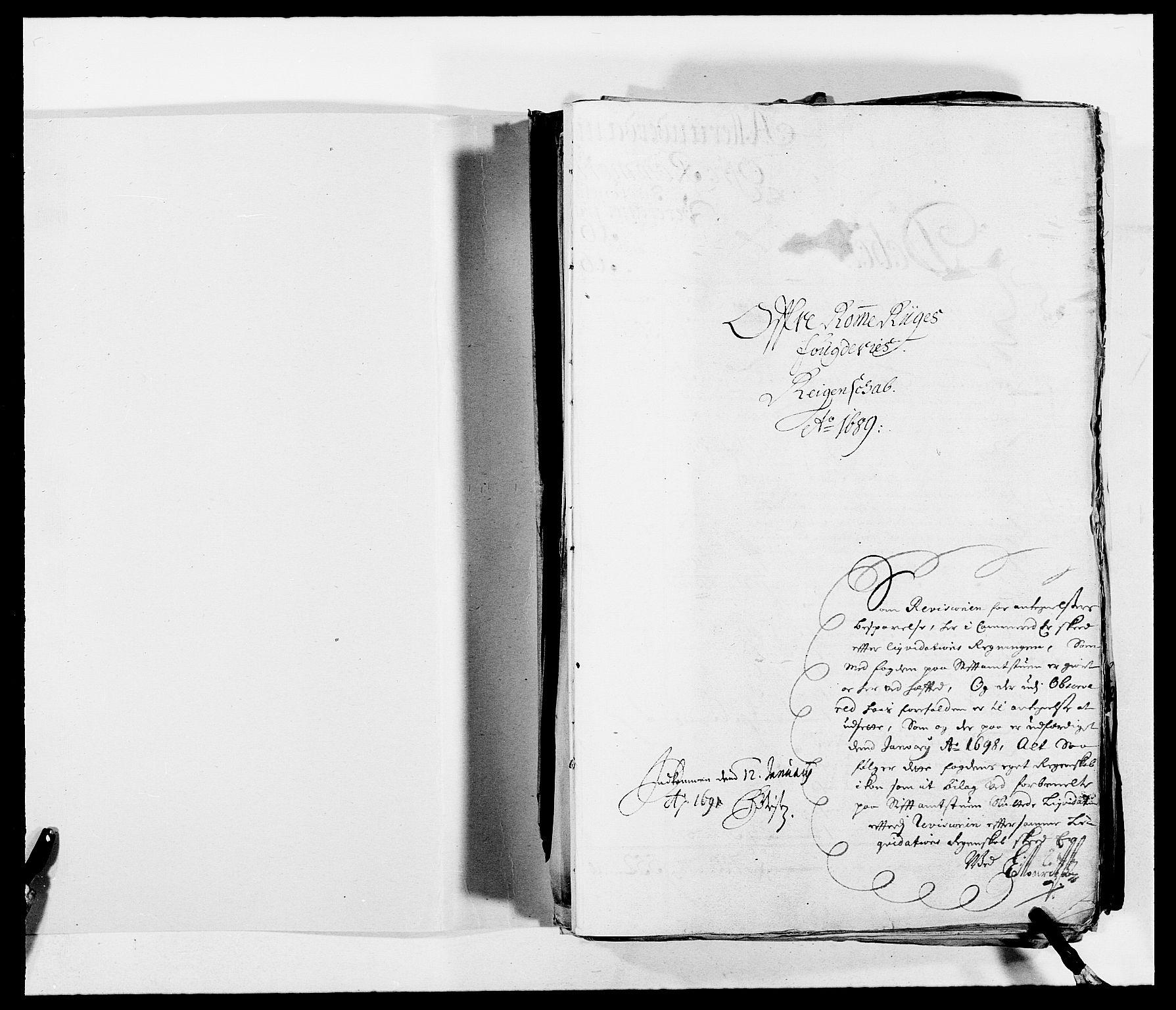 RA, Rentekammeret inntil 1814, Reviderte regnskaper, Fogderegnskap, R12/L0701: Fogderegnskap Øvre Romerike, 1689, s. 2
