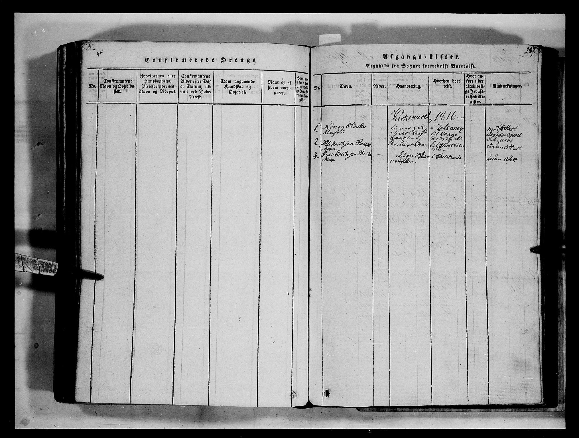 SAH, Fron prestekontor, H/Ha/Hab/L0002: Klokkerbok nr. 2, 1816-1850, s. 287