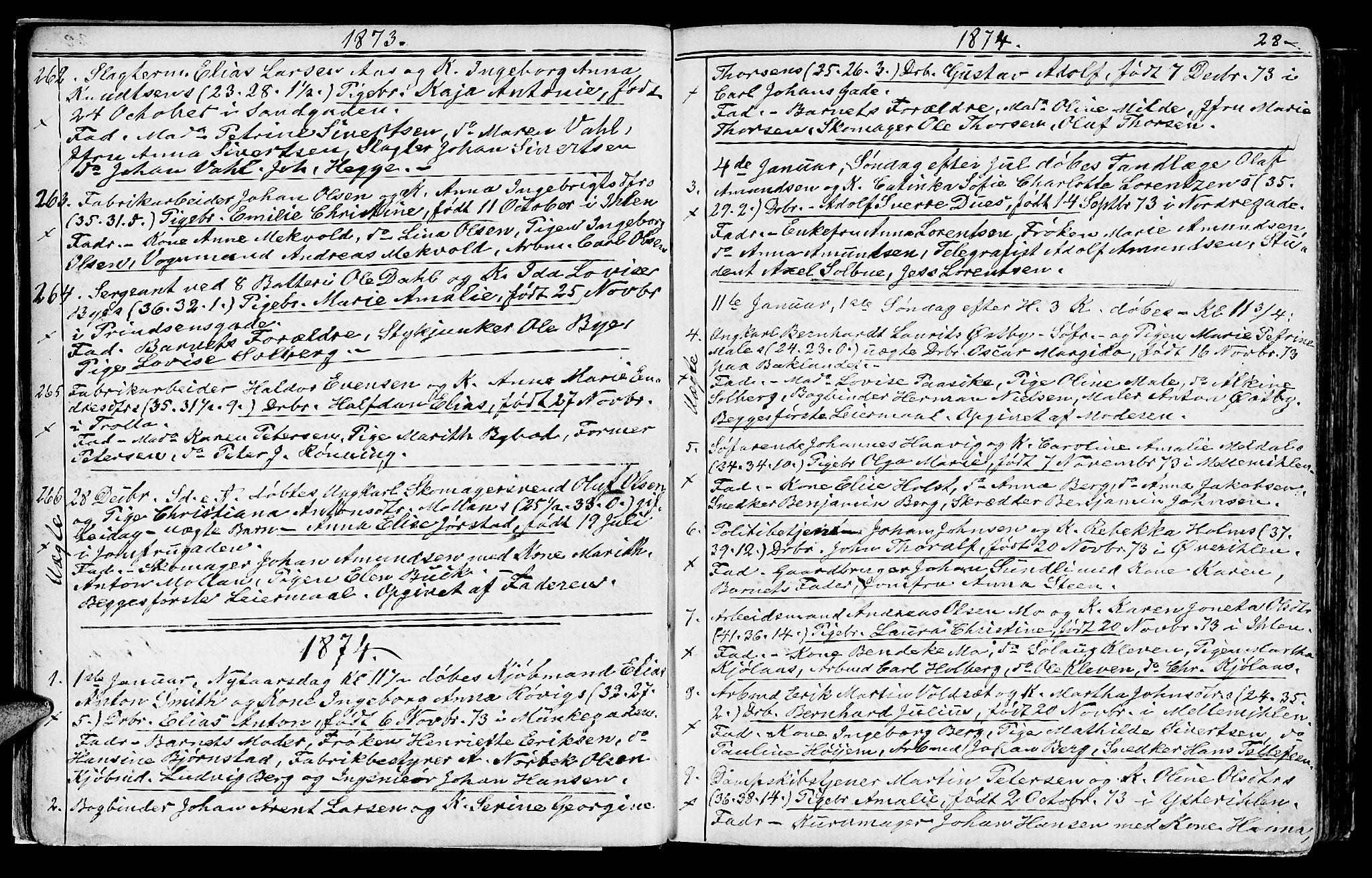 SAT, Ministerialprotokoller, klokkerbøker og fødselsregistre - Sør-Trøndelag, 602/L0142: Klokkerbok nr. 602C10, 1872-1894, s. 28