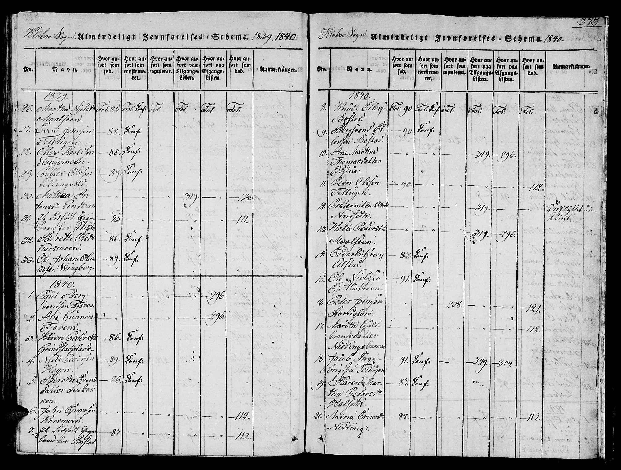 SAT, Ministerialprotokoller, klokkerbøker og fødselsregistre - Sør-Trøndelag, 618/L0450: Klokkerbok nr. 618C01, 1816-1865, s. 373