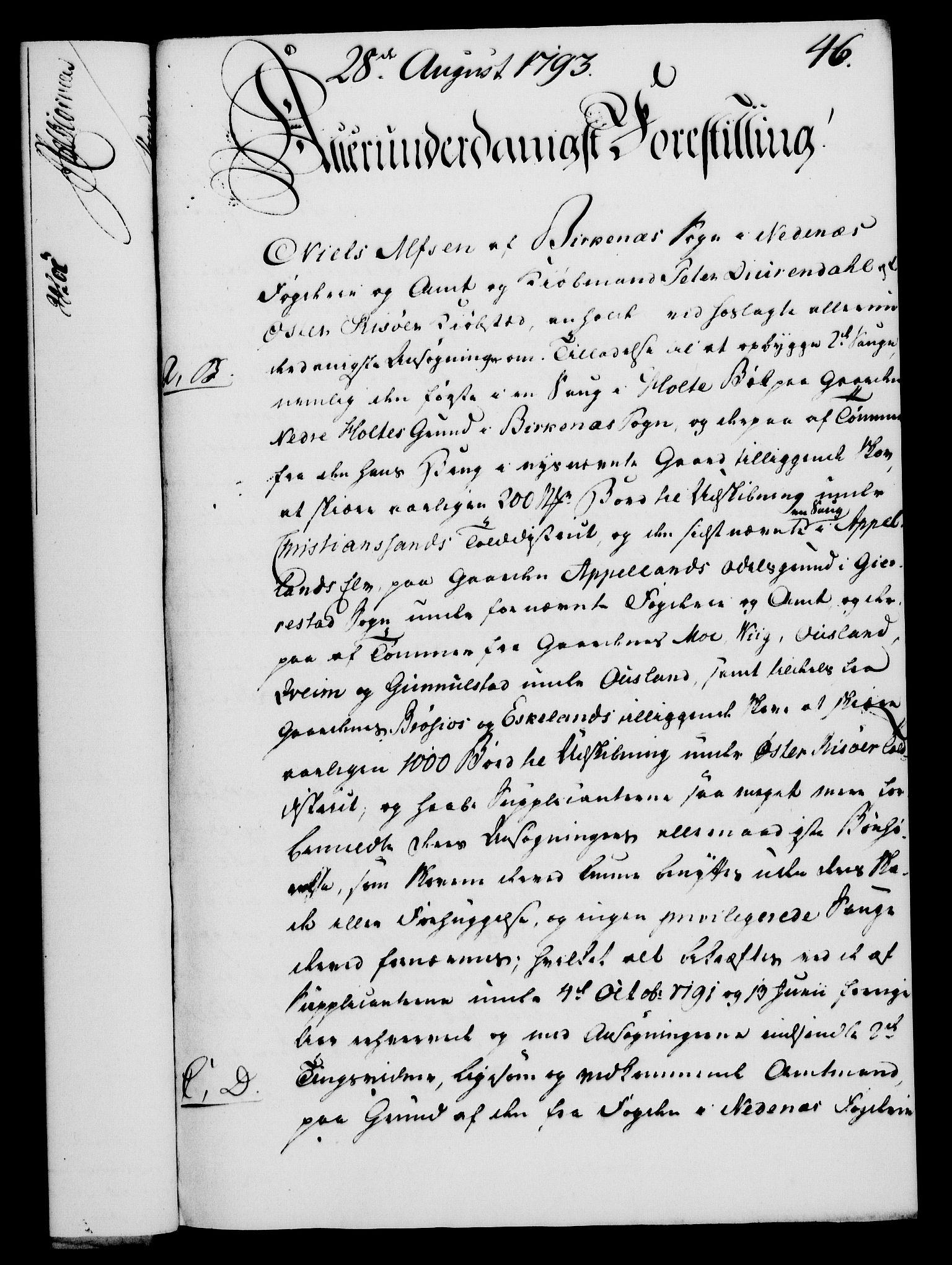RA, Rentekammeret, Kammerkanselliet, G/Gf/Gfa/L0075: Norsk relasjons- og resolusjonsprotokoll (merket RK 52.75), 1793, s. 218