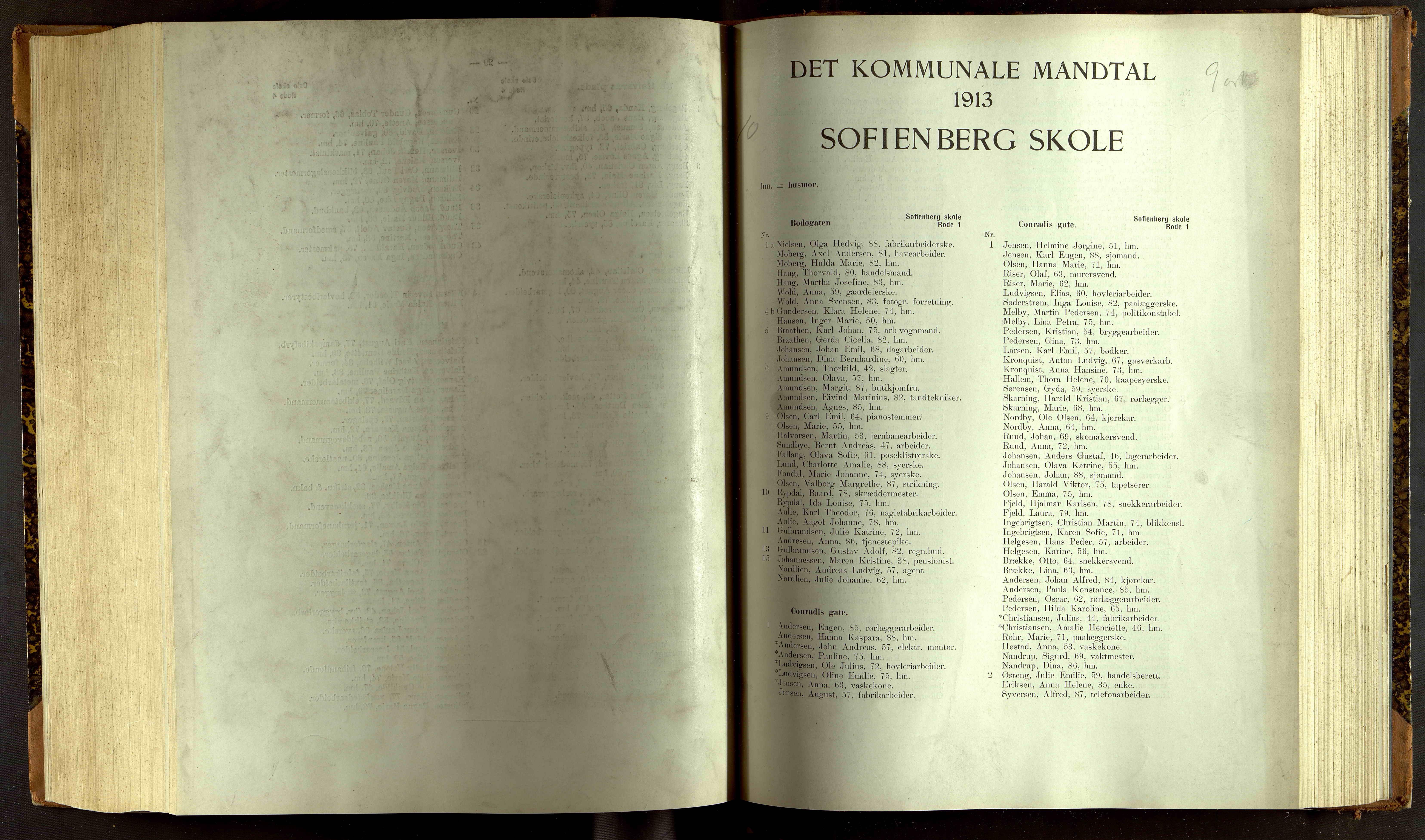 OBA, Folkeregisteret ( Valgstyret ), 1913, s. 9001