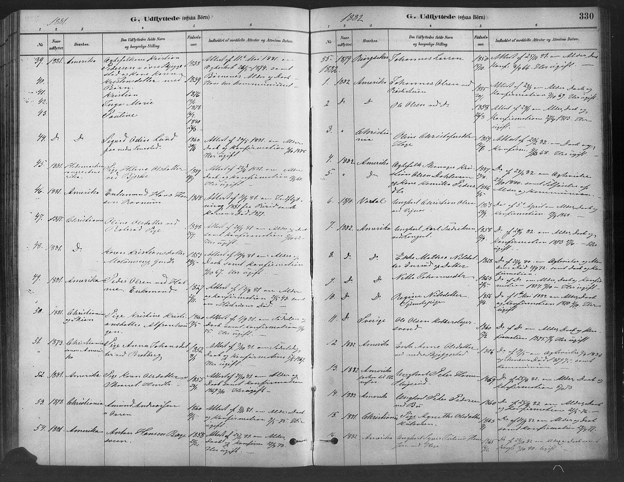 SAH, Fåberg prestekontor, Ministerialbok nr. 9, 1879-1898, s. 330