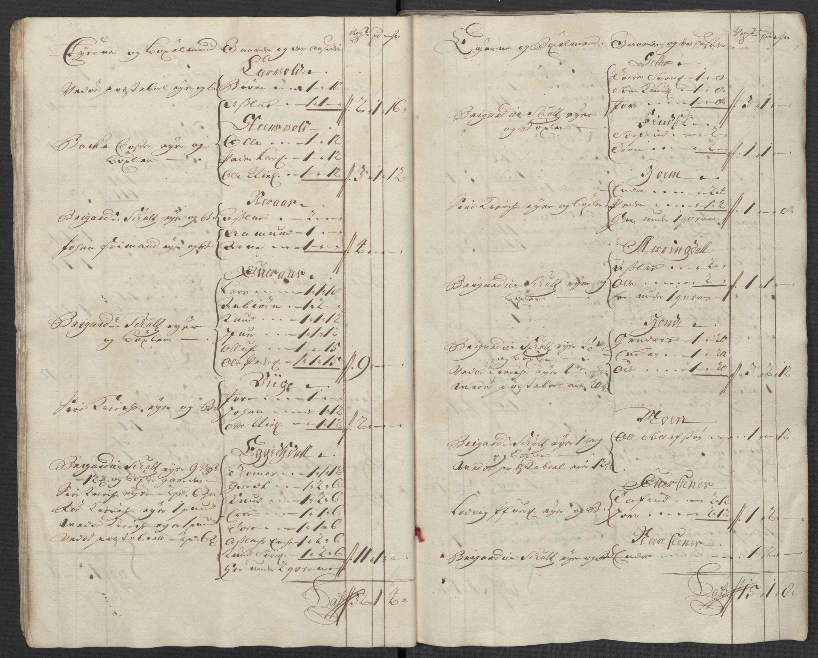 RA, Rentekammeret inntil 1814, Reviderte regnskaper, Fogderegnskap, R55/L3656: Fogderegnskap Romsdal, 1703-1705, s. 377