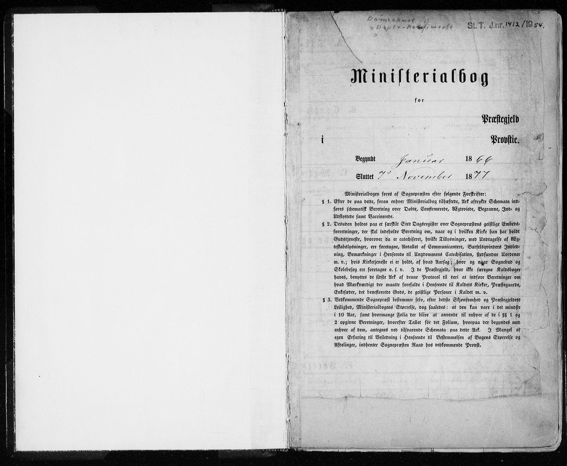 SAT, Ministerialprotokoller, klokkerbøker og fødselsregistre - Sør-Trøndelag, 601/L0054: Ministerialbok nr. 601A22, 1866-1877
