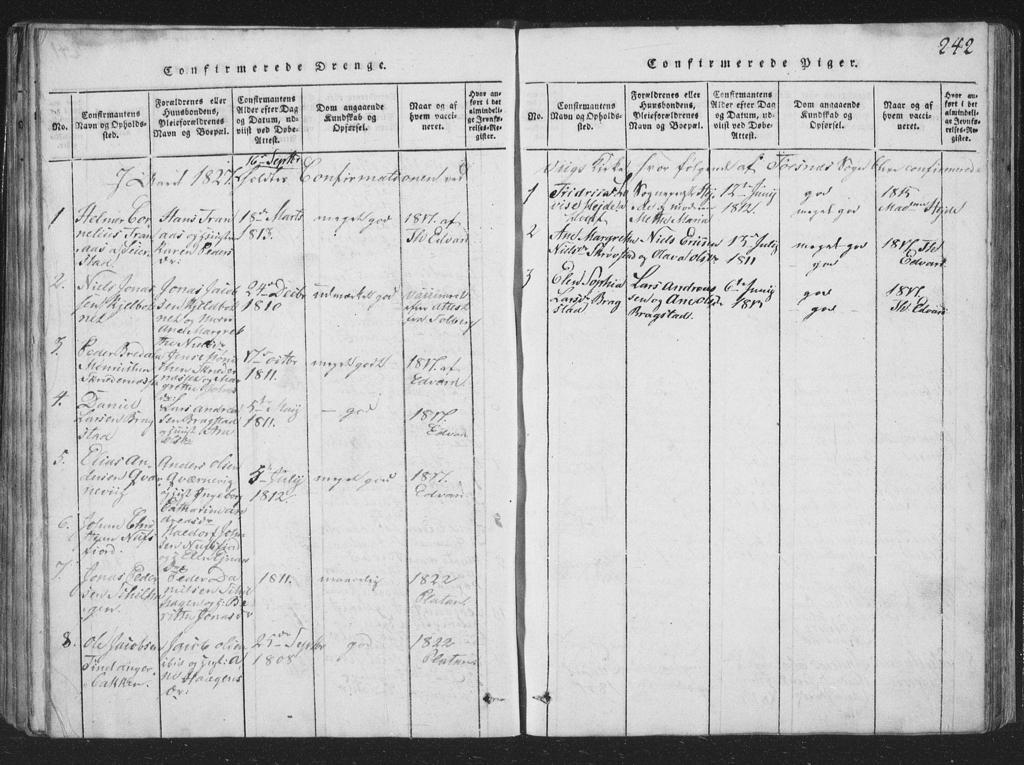 SAT, Ministerialprotokoller, klokkerbøker og fødselsregistre - Nord-Trøndelag, 773/L0613: Ministerialbok nr. 773A04, 1815-1845, s. 242