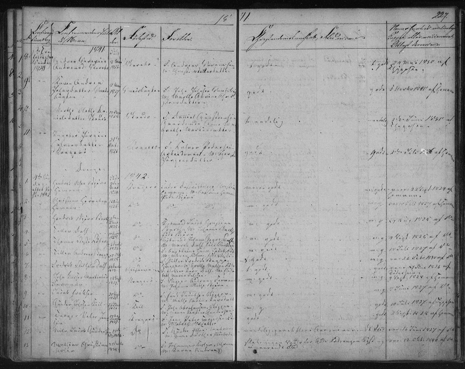 SAKO, Kragerø kirkebøker, F/Fa/L0005: Ministerialbok nr. 5, 1832-1847, s. 227