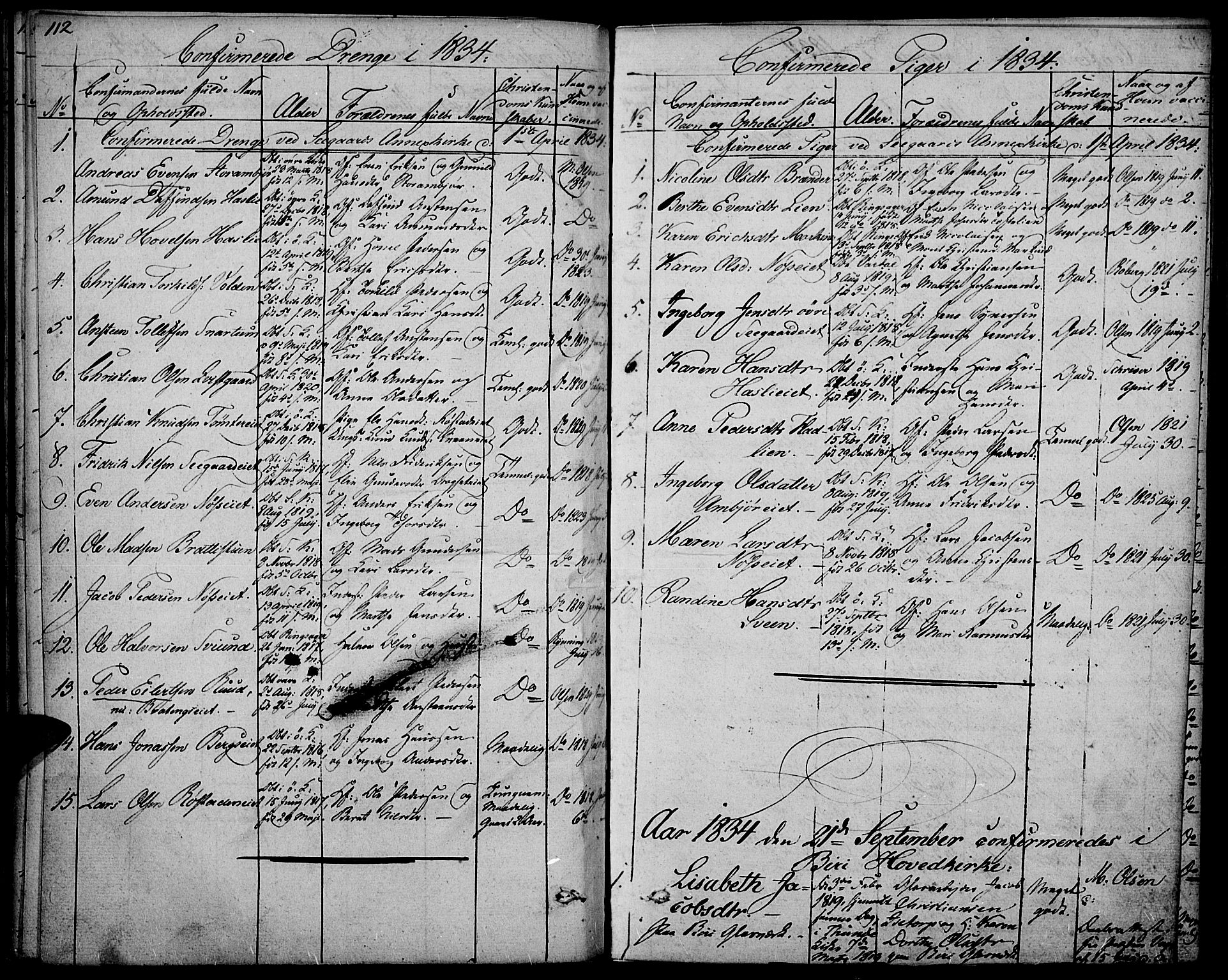 SAH, Biri prestekontor, Ministerialbok nr. 4, 1829-1842, s. 112
