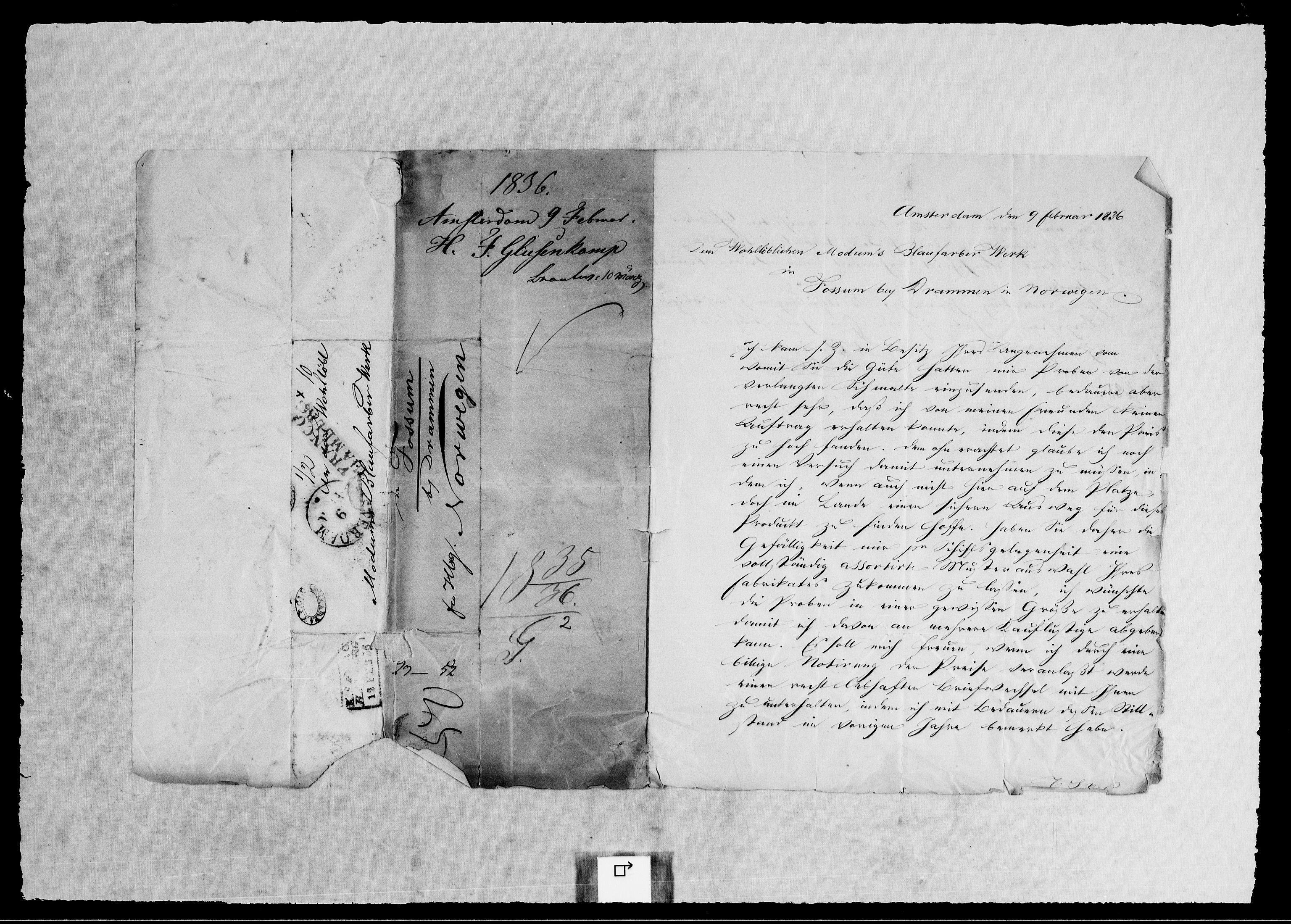 RA, Modums Blaafarveværk, G/Gb/L0116, 1835-1836, s. 2
