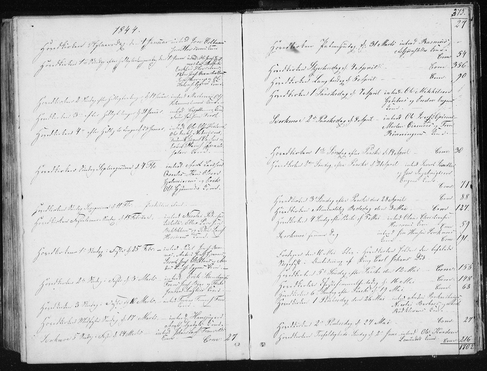 SAT, Ministerialprotokoller, klokkerbøker og fødselsregistre - Sør-Trøndelag, 668/L0805: Ministerialbok nr. 668A05, 1840-1853, s. 375