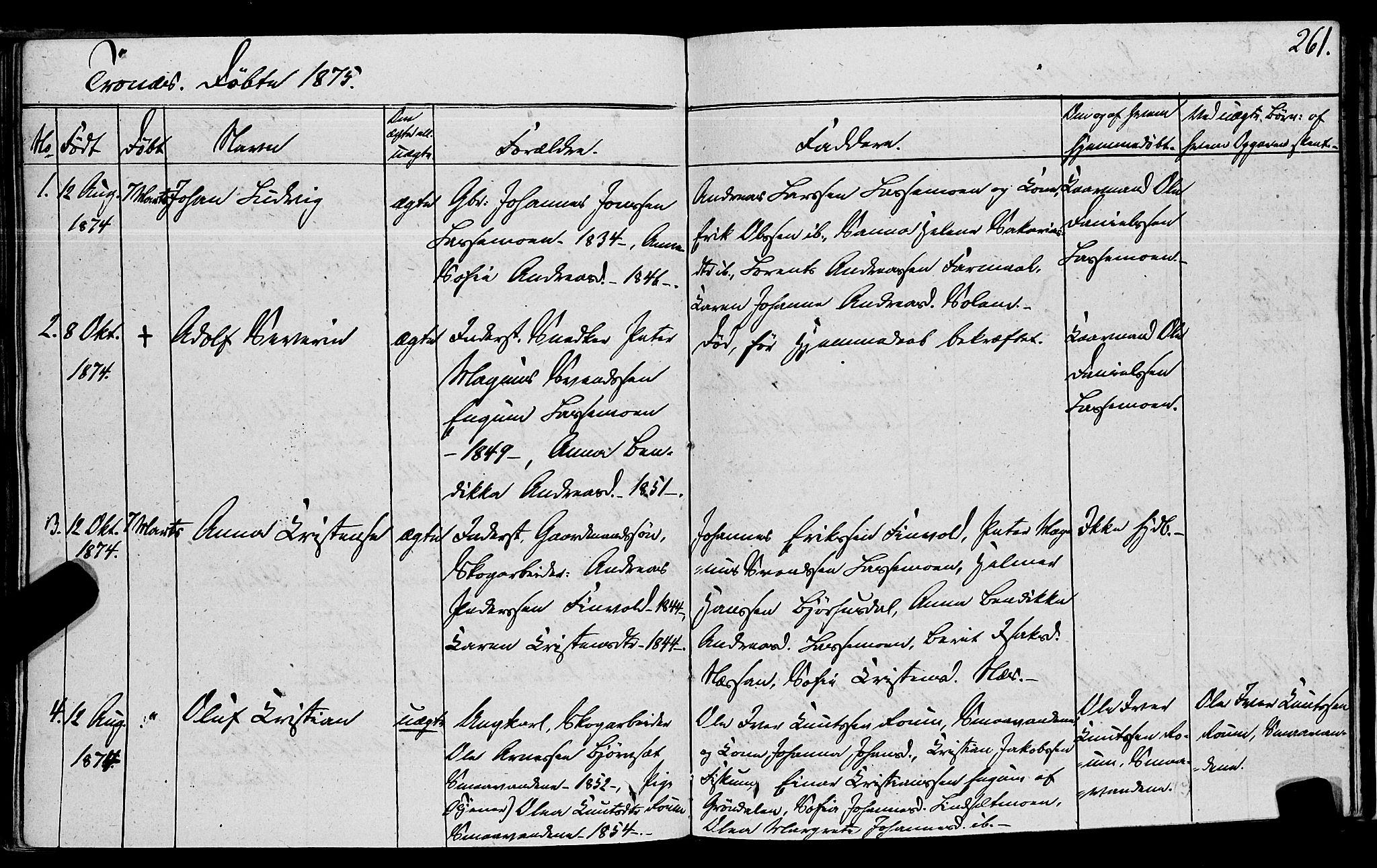 SAT, Ministerialprotokoller, klokkerbøker og fødselsregistre - Nord-Trøndelag, 762/L0538: Ministerialbok nr. 762A02 /2, 1833-1879, s. 261