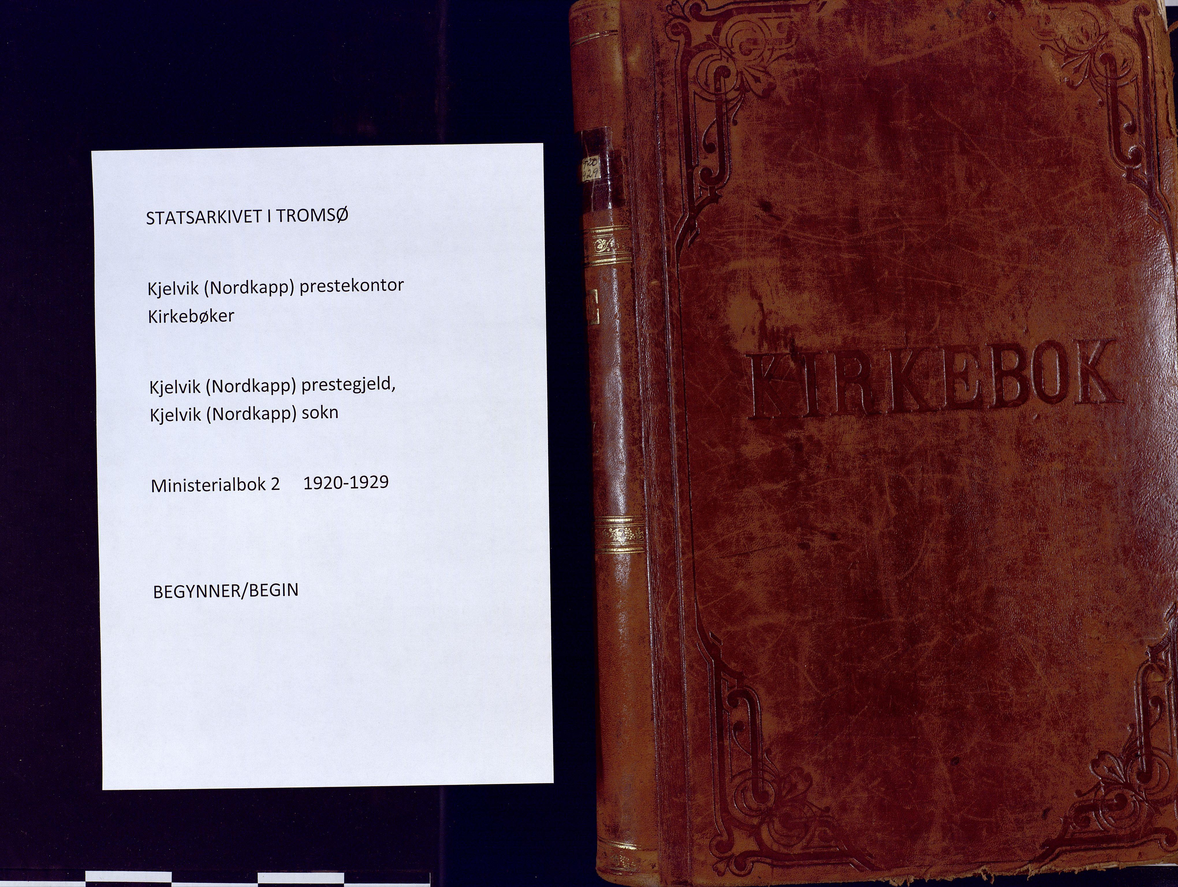 SATØ, Kjelvik/Nordkapp sokneprestkontor, H/Ha/L0002kirke: Ministerialbok nr. 2, 1920-1929