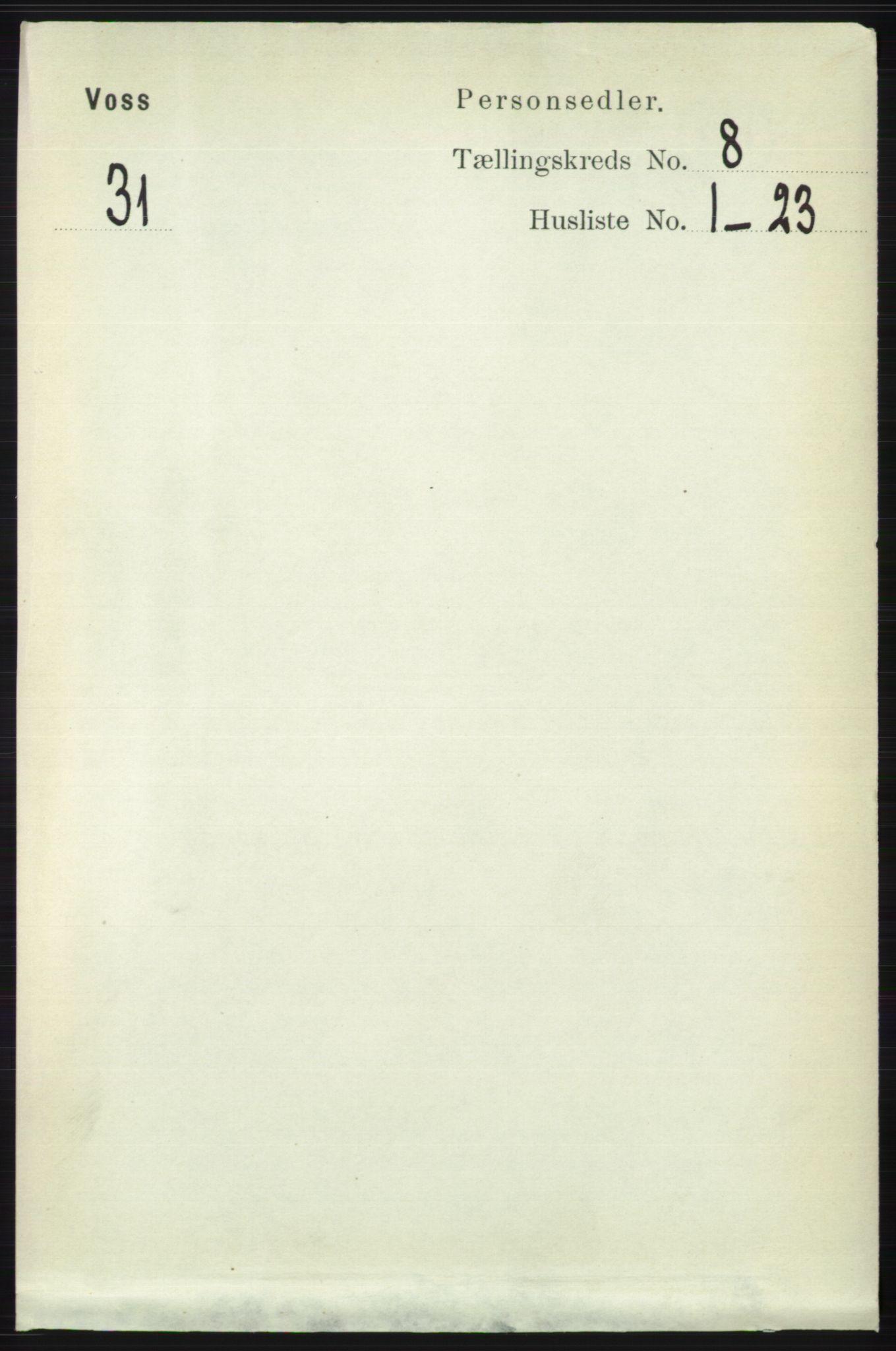 RA, Folketelling 1891 for 1235 Voss herred, 1891, s. 4224