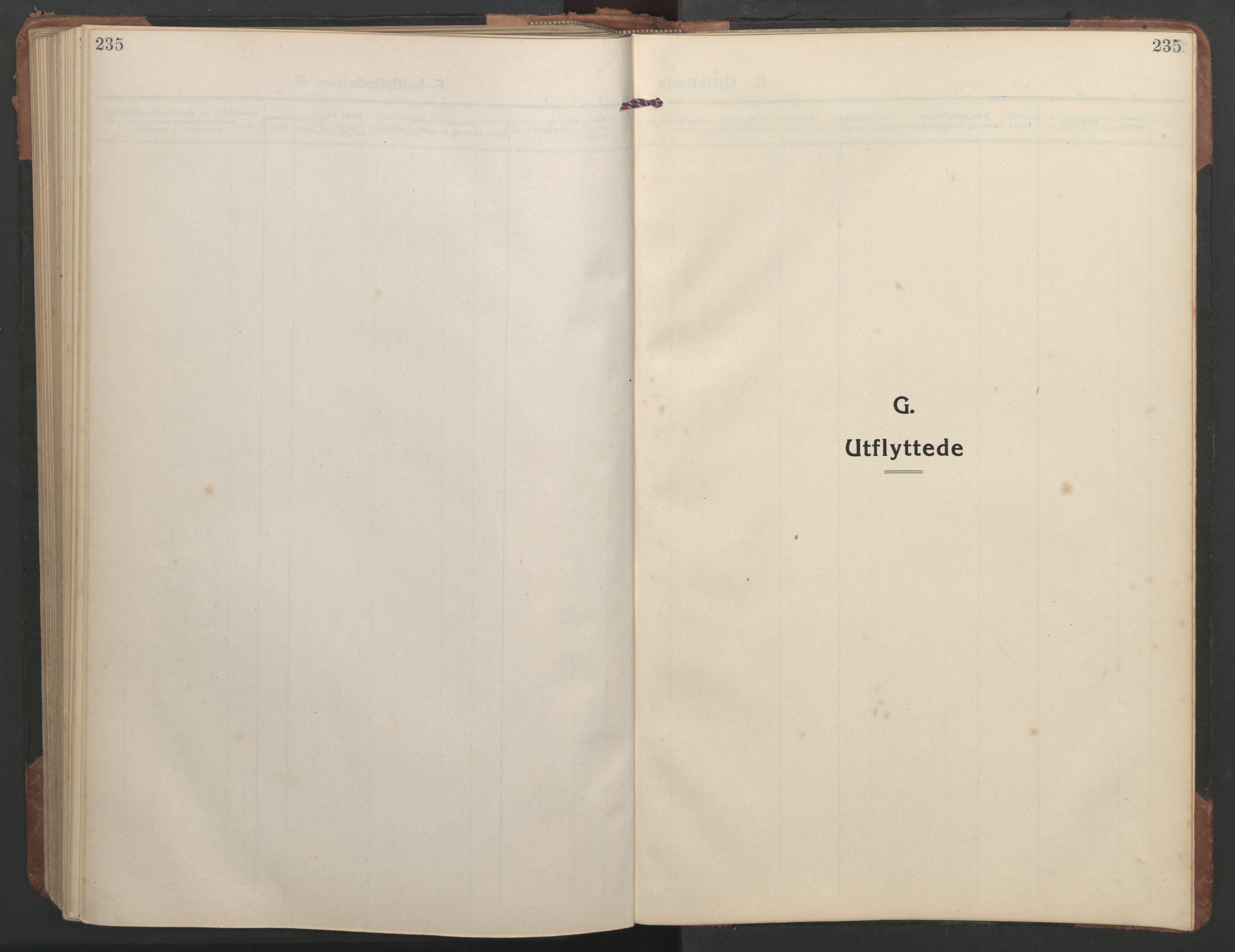 SAT, Ministerialprotokoller, klokkerbøker og fødselsregistre - Sør-Trøndelag, 638/L0569: Klokkerbok nr. 638C01, 1923-1961, s. 235