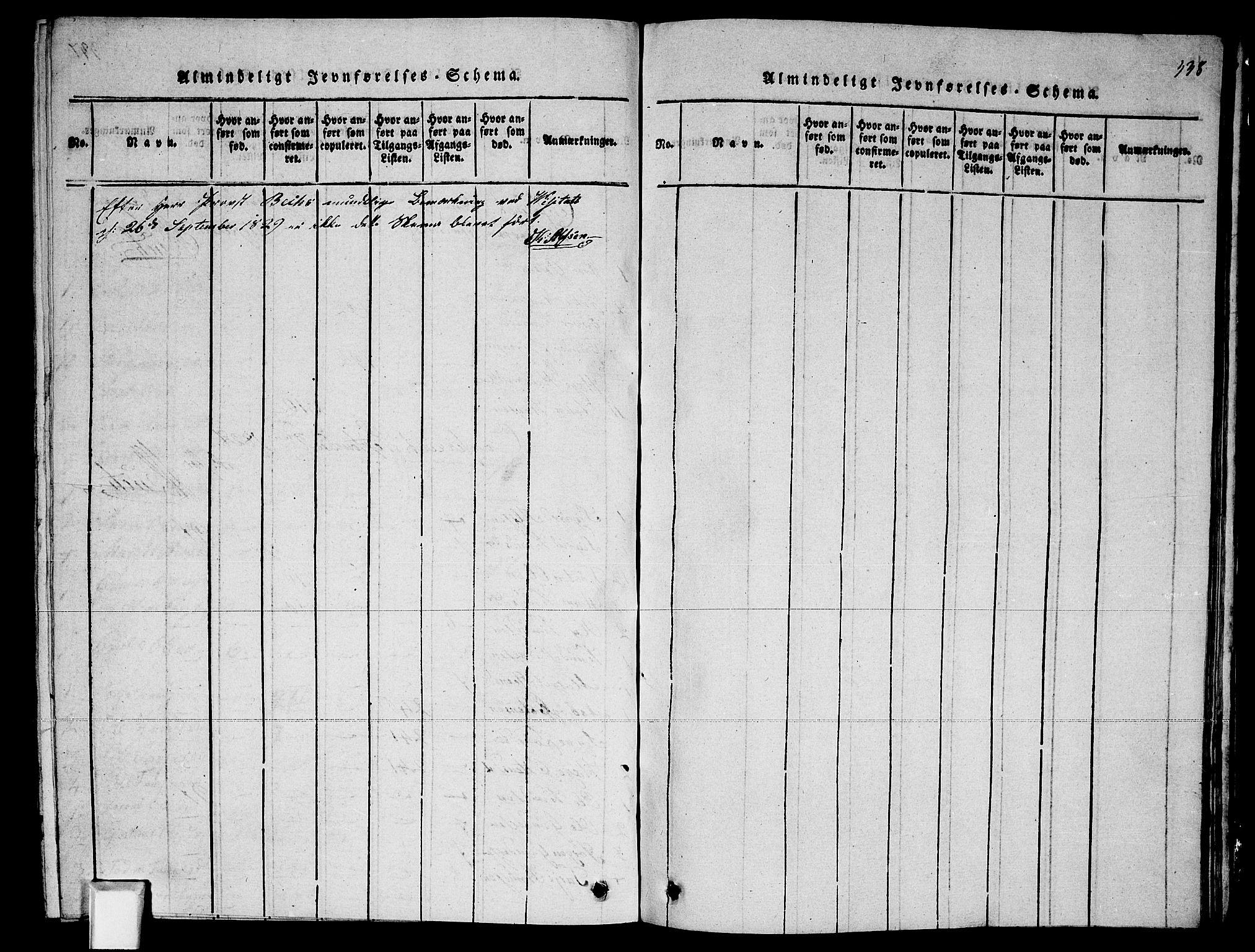 SAKO, Fyresdal kirkebøker, G/Ga/L0002: Klokkerbok nr. I 2, 1815-1857, s. 338