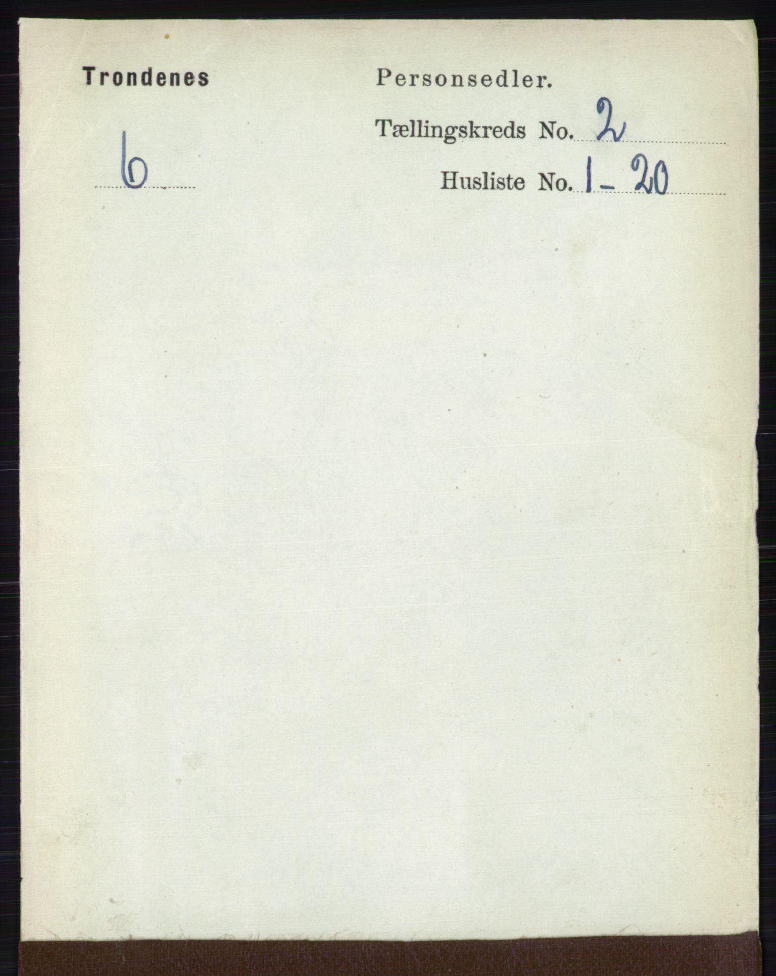 RA, Folketelling 1891 for 1914 Trondenes herred, 1891, s. 649