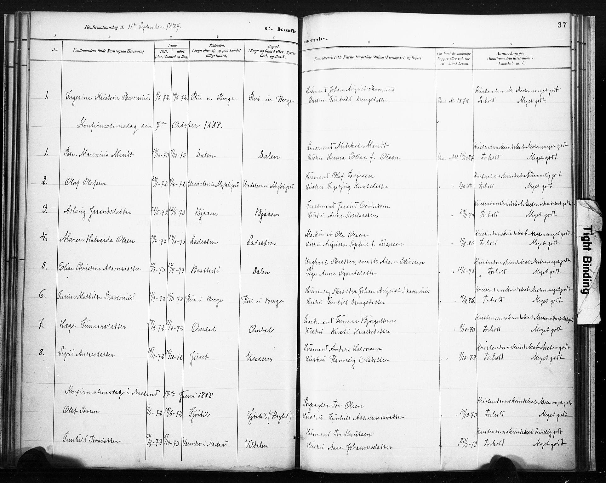 SAKO, Lårdal kirkebøker, F/Fb/L0002: Ministerialbok nr. II 2, 1887-1918, s. 37
