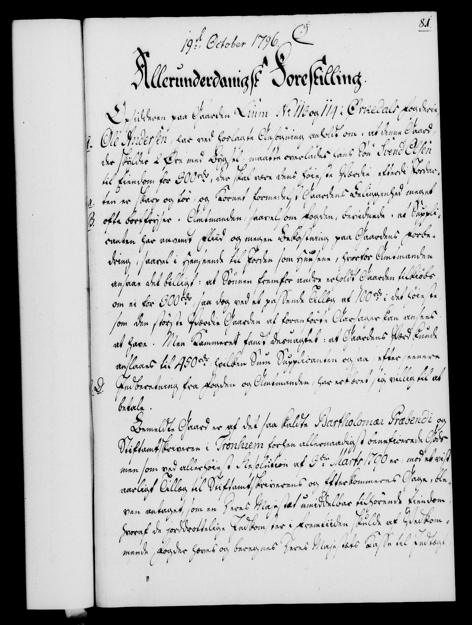 RA, Rentekammeret, Kammerkanselliet, G/Gf/Gfa/L0078: Norsk relasjons- og resolusjonsprotokoll (merket RK 52.78), 1796, s. 427