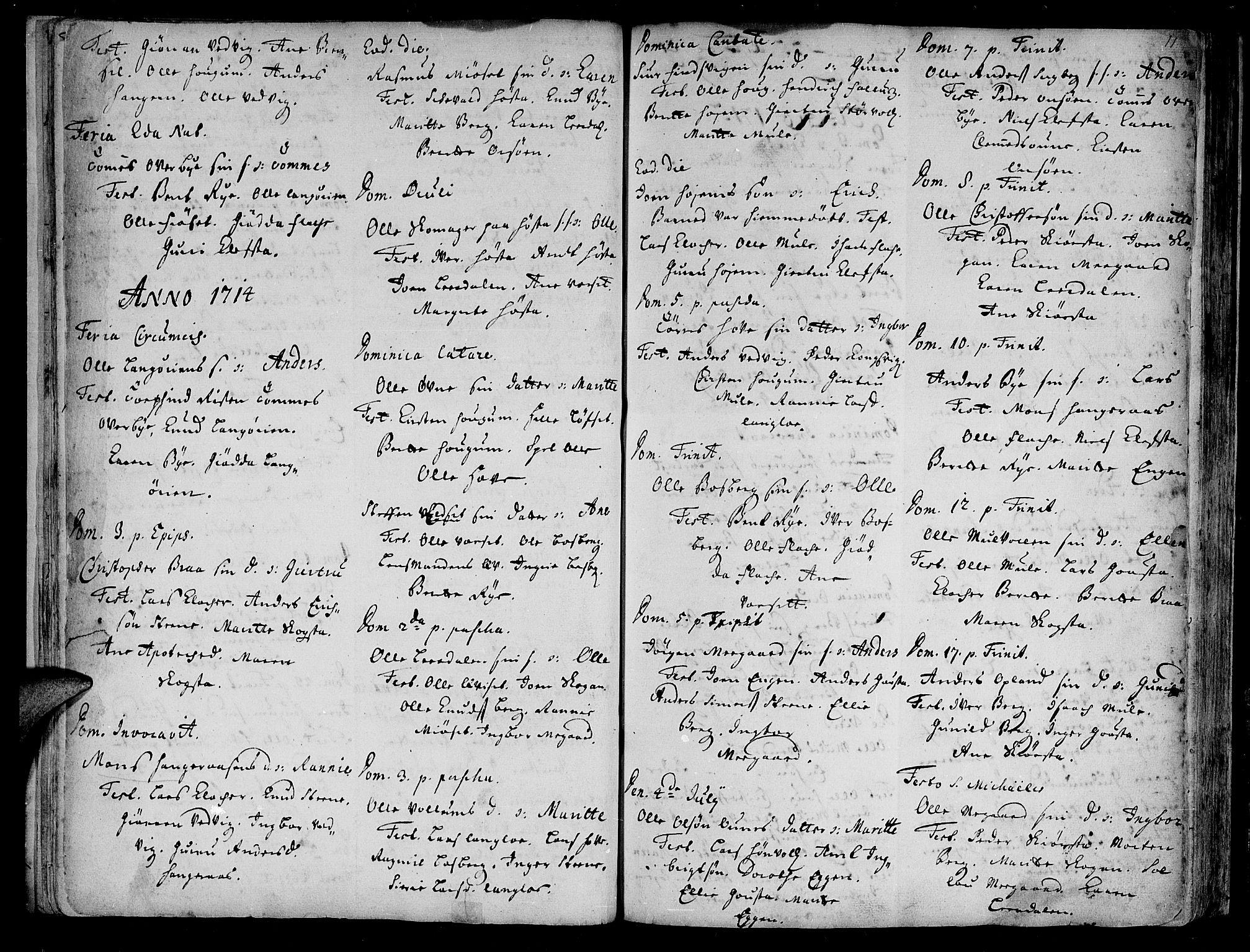 SAT, Ministerialprotokoller, klokkerbøker og fødselsregistre - Sør-Trøndelag, 612/L0368: Ministerialbok nr. 612A02, 1702-1753, s. 11