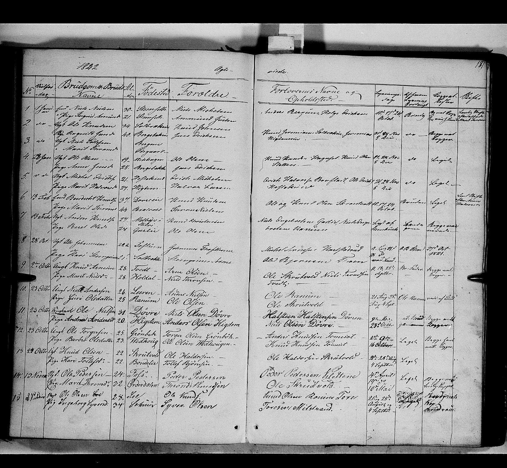 SAH, Nord-Aurdal prestekontor, Ministerialbok nr. 7, 1842-1863, s. 181