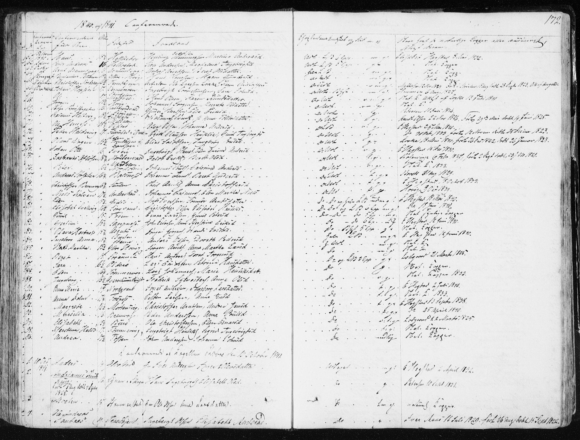 SAT, Ministerialprotokoller, klokkerbøker og fødselsregistre - Sør-Trøndelag, 634/L0528: Ministerialbok nr. 634A04, 1827-1842, s. 172
