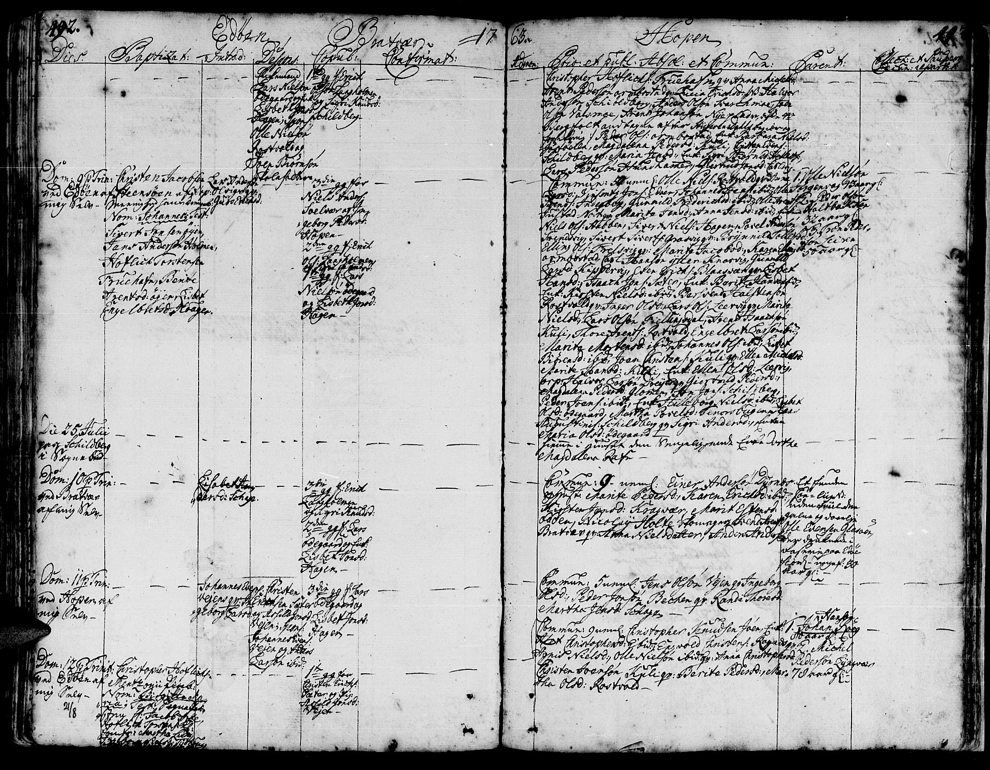 SAT, Ministerialprotokoller, klokkerbøker og fødselsregistre - Møre og Romsdal, 581/L0931: Ministerialbok nr. 581A01, 1751-1765, s. 492-493