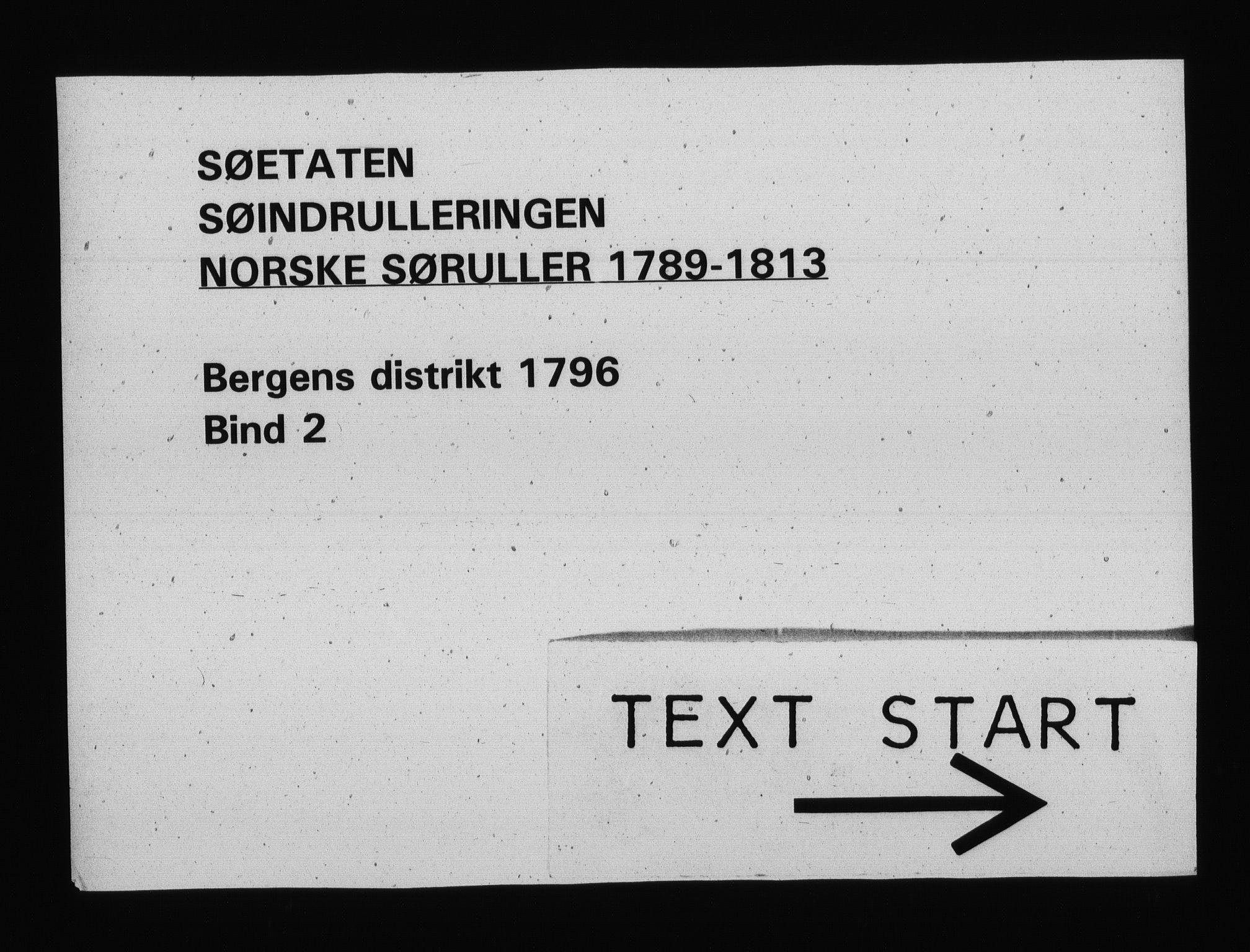 RA, Sjøetaten, F/L0224: Bergen distrikt, bind 2, 1796