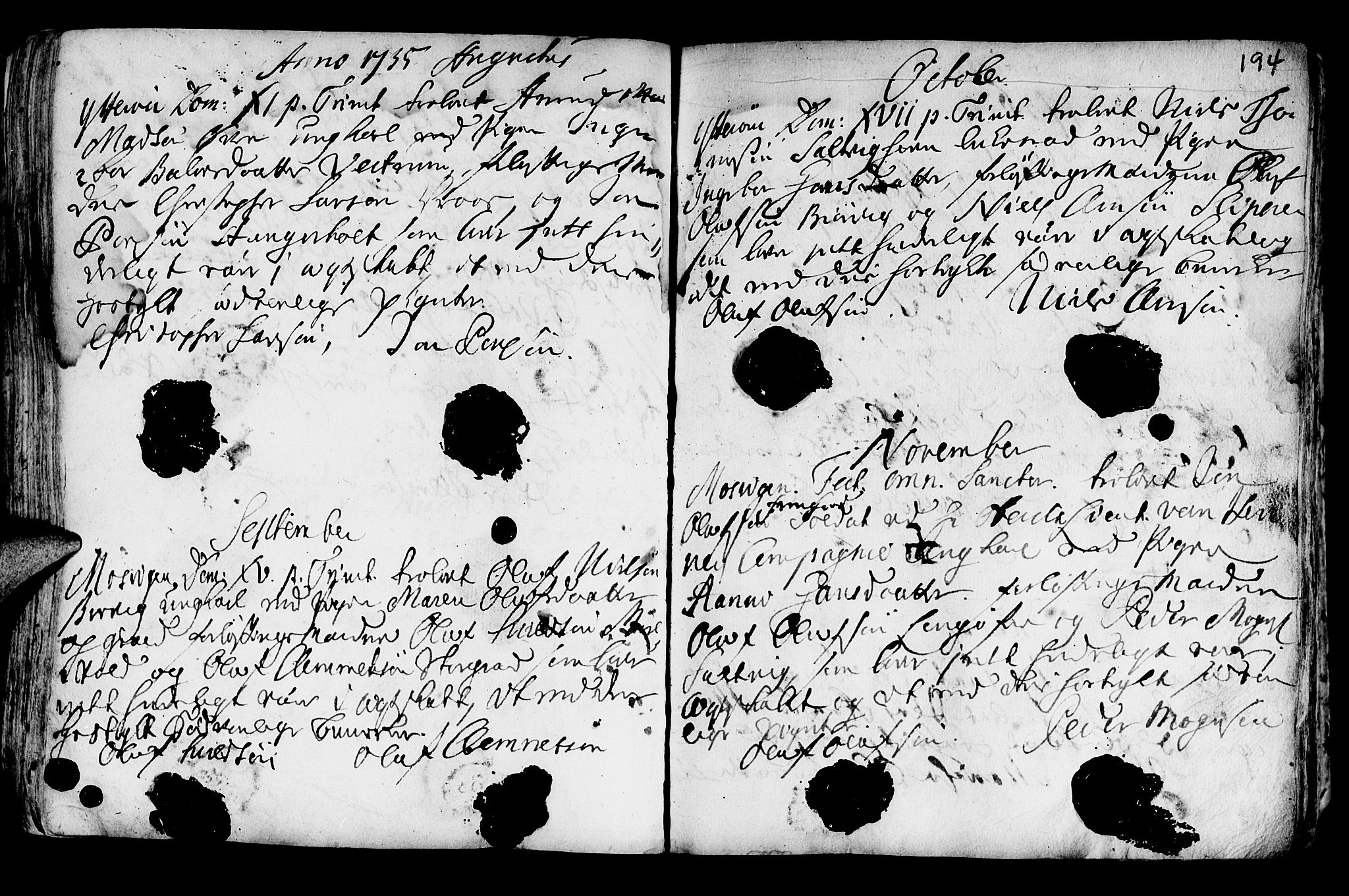 SAT, Ministerialprotokoller, klokkerbøker og fødselsregistre - Nord-Trøndelag, 722/L0215: Ministerialbok nr. 722A02, 1718-1755, s. 194a