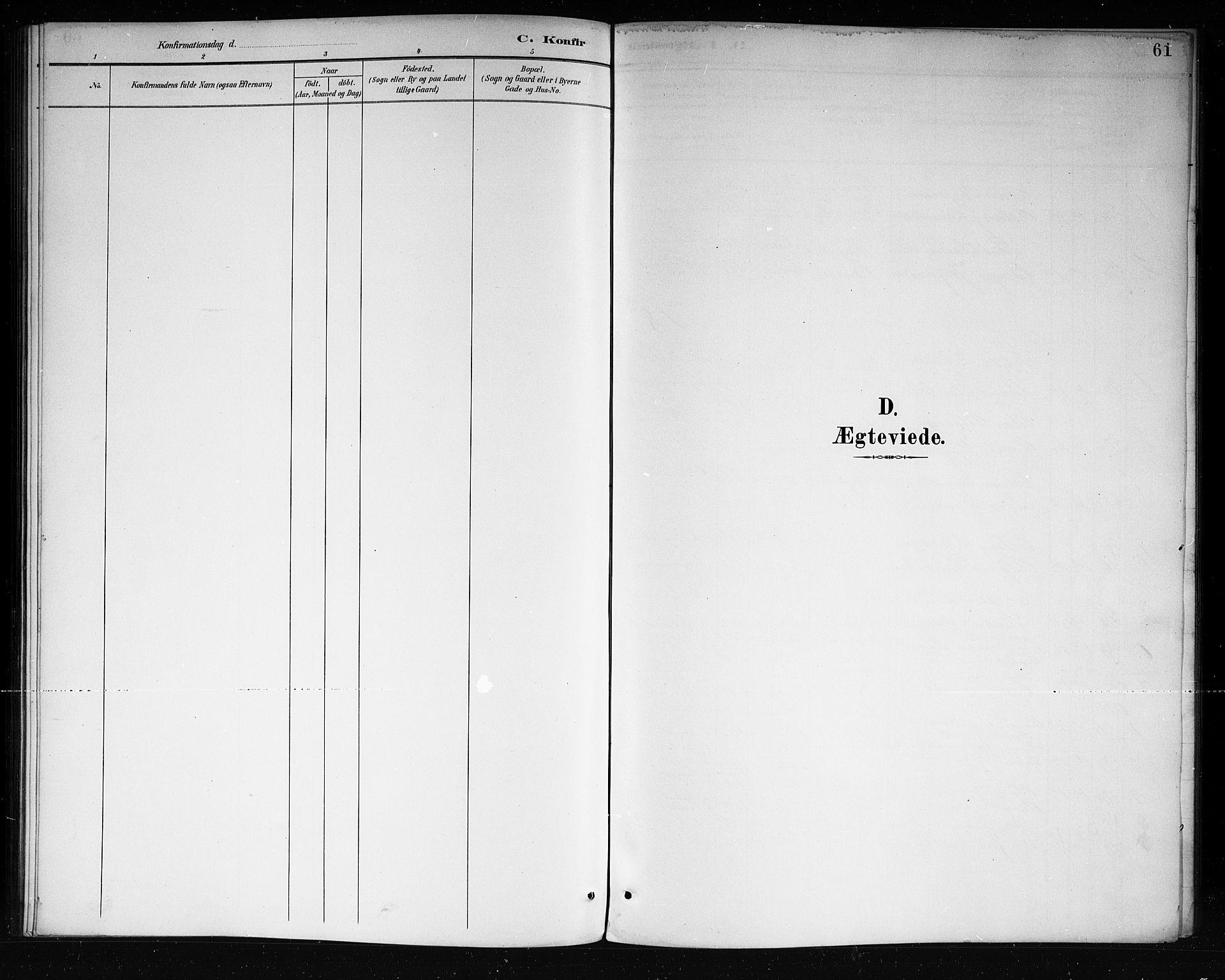 SAKO, Lårdal kirkebøker, G/Ga/L0003: Klokkerbok nr. I 3, 1891-1918, s. 61