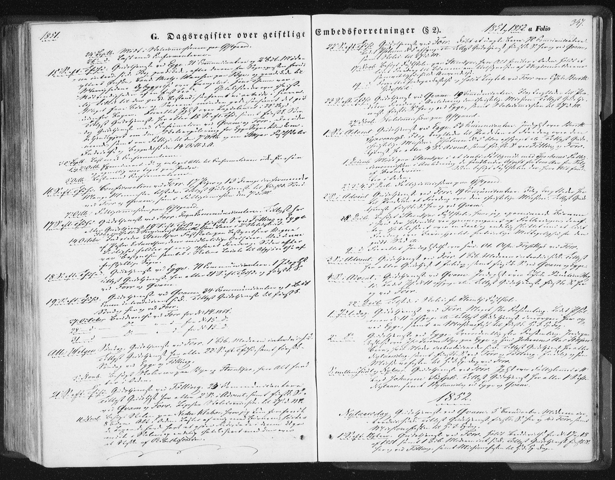 SAT, Ministerialprotokoller, klokkerbøker og fødselsregistre - Nord-Trøndelag, 746/L0446: Ministerialbok nr. 746A05, 1846-1859, s. 347