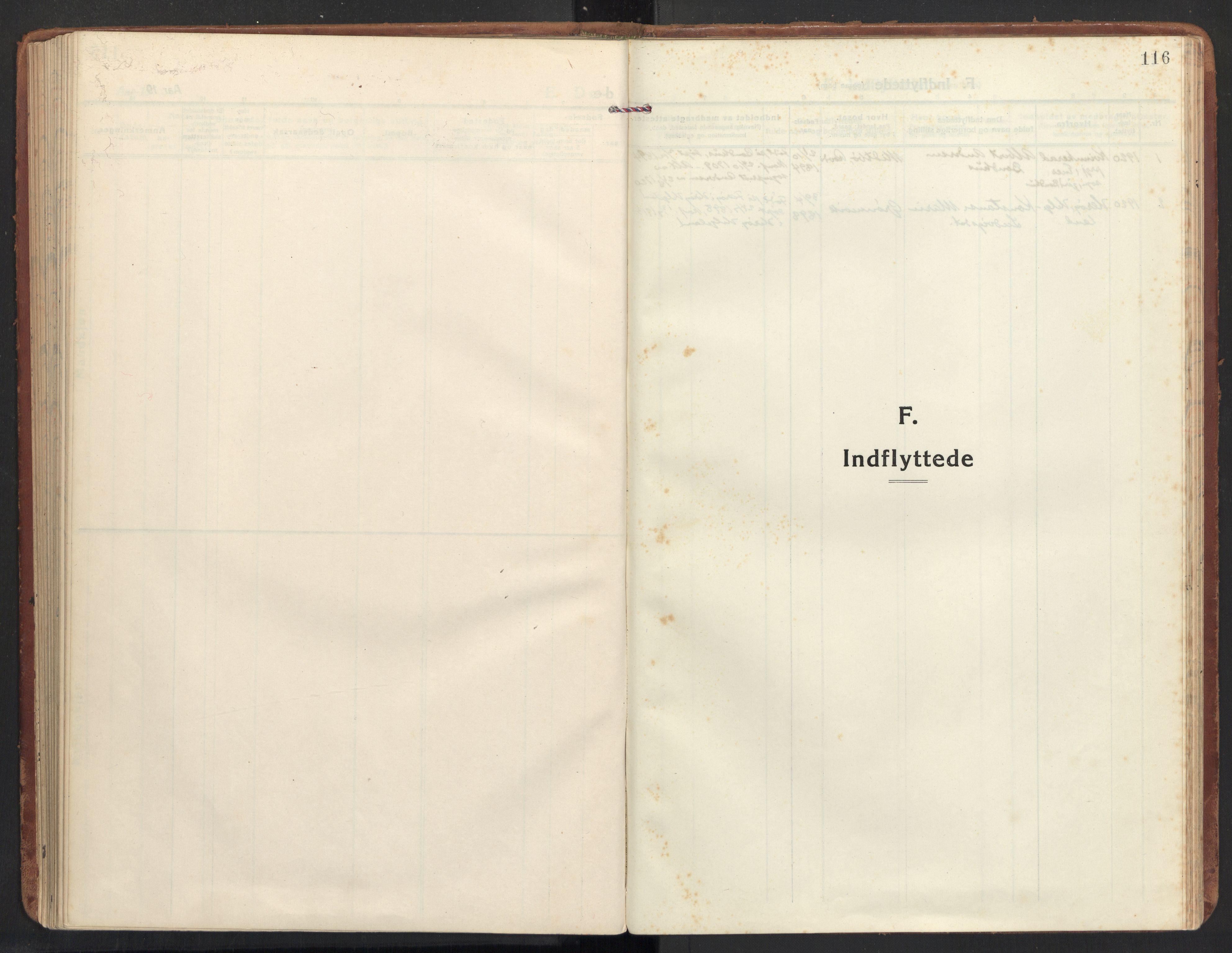 SAT, Ministerialprotokoller, klokkerbøker og fødselsregistre - Møre og Romsdal, 504/L0058: Ministerialbok nr. 504A05, 1920-1940, s. 116