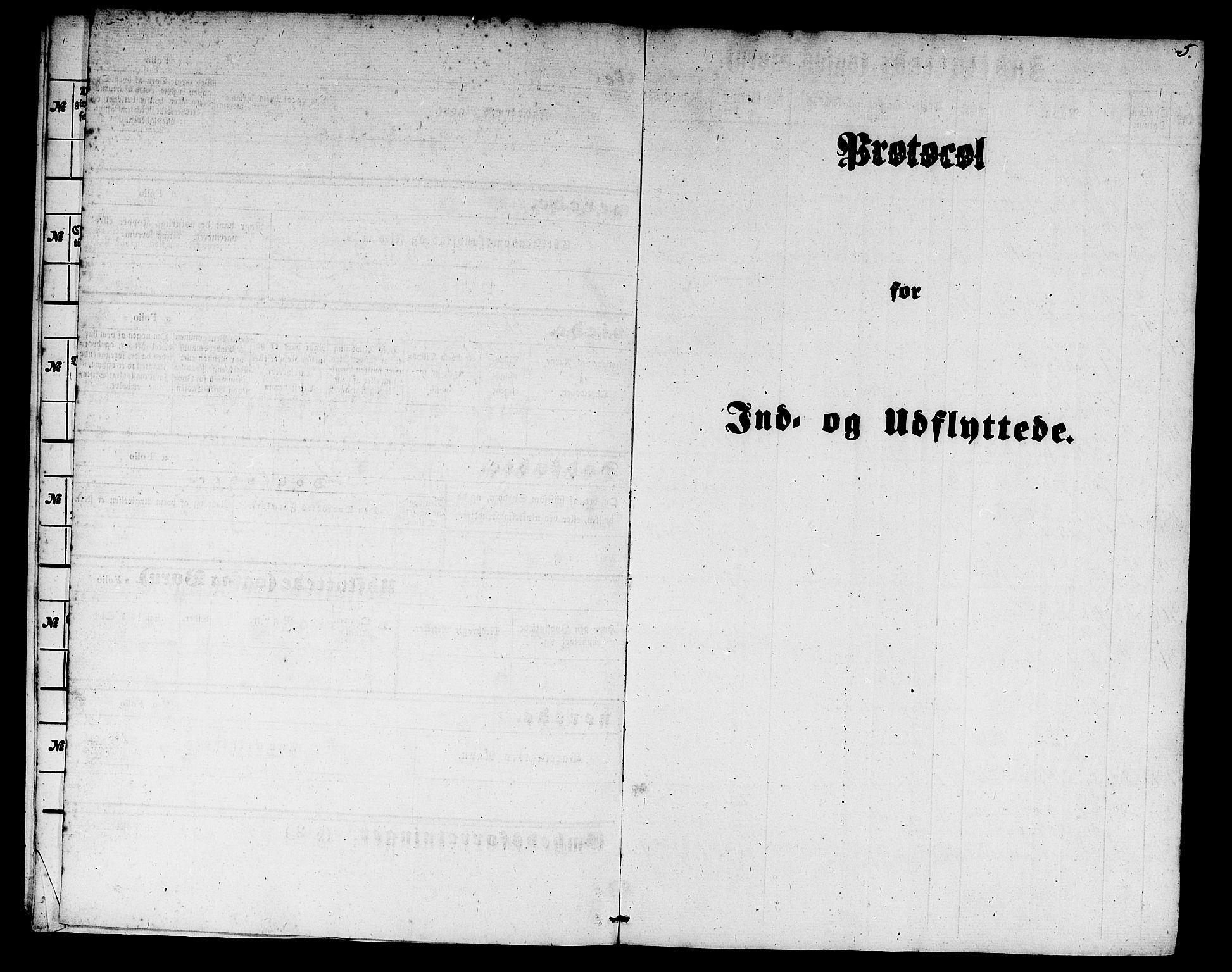 SAB, Domkirken Sokneprestembete, H/Hab/L0044: Klokkerbok nr. F 1, 1856-1879, s. 5