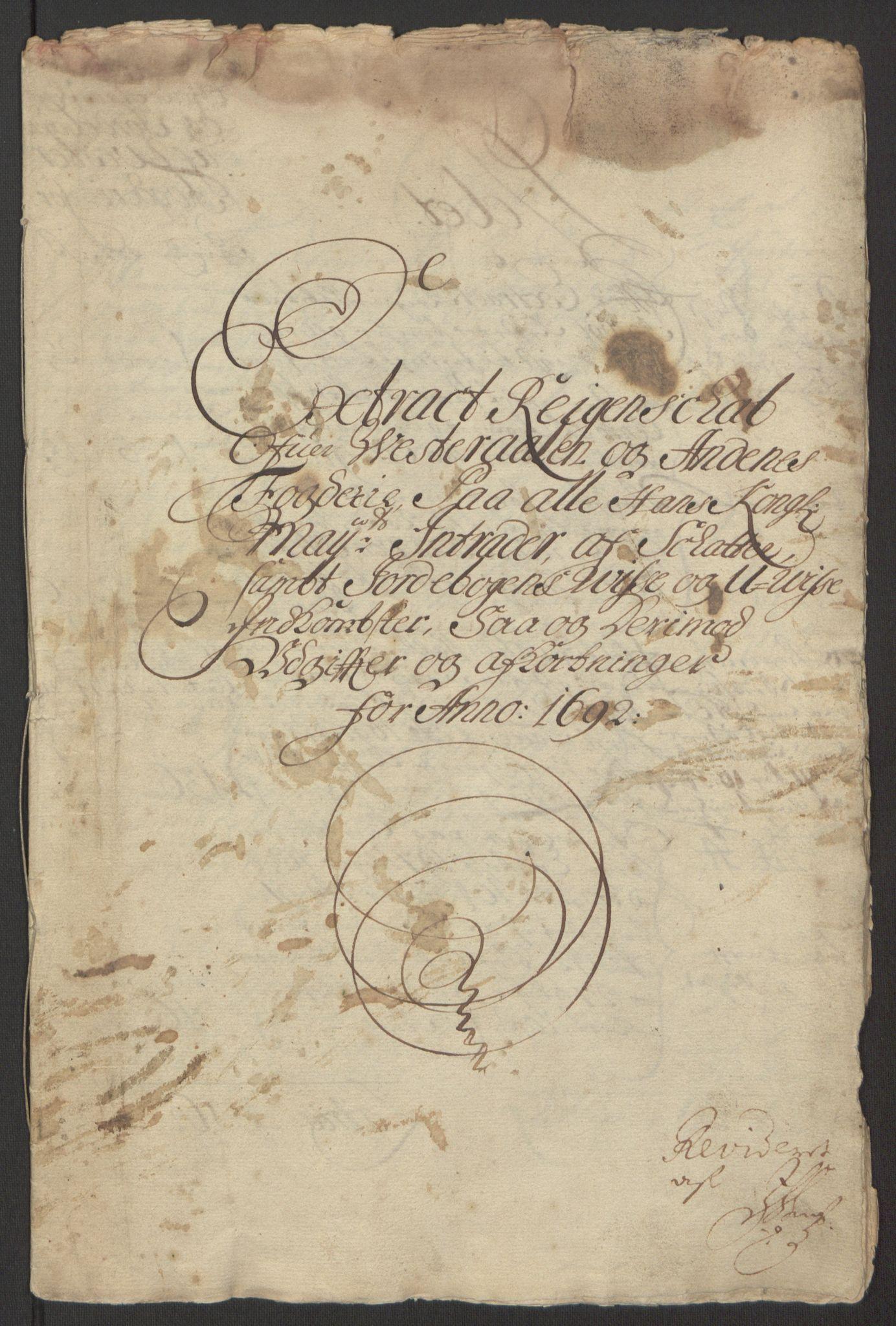 RA, Rentekammeret inntil 1814, Reviderte regnskaper, Fogderegnskap, R67/L4676: Fogderegnskap Vesterålen, Andenes og Lofoten, 1691-1693, s. 91