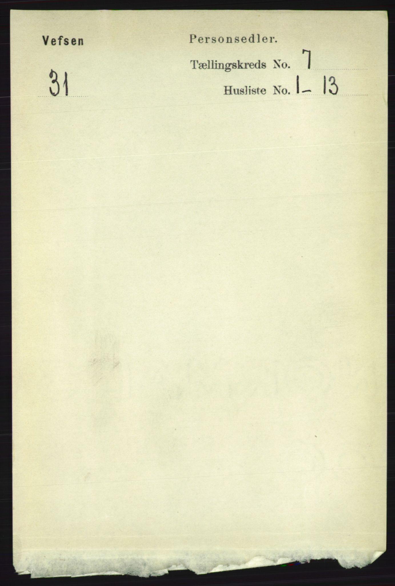 RA, Folketelling 1891 for 1824 Vefsn herred, 1891, s. 3654