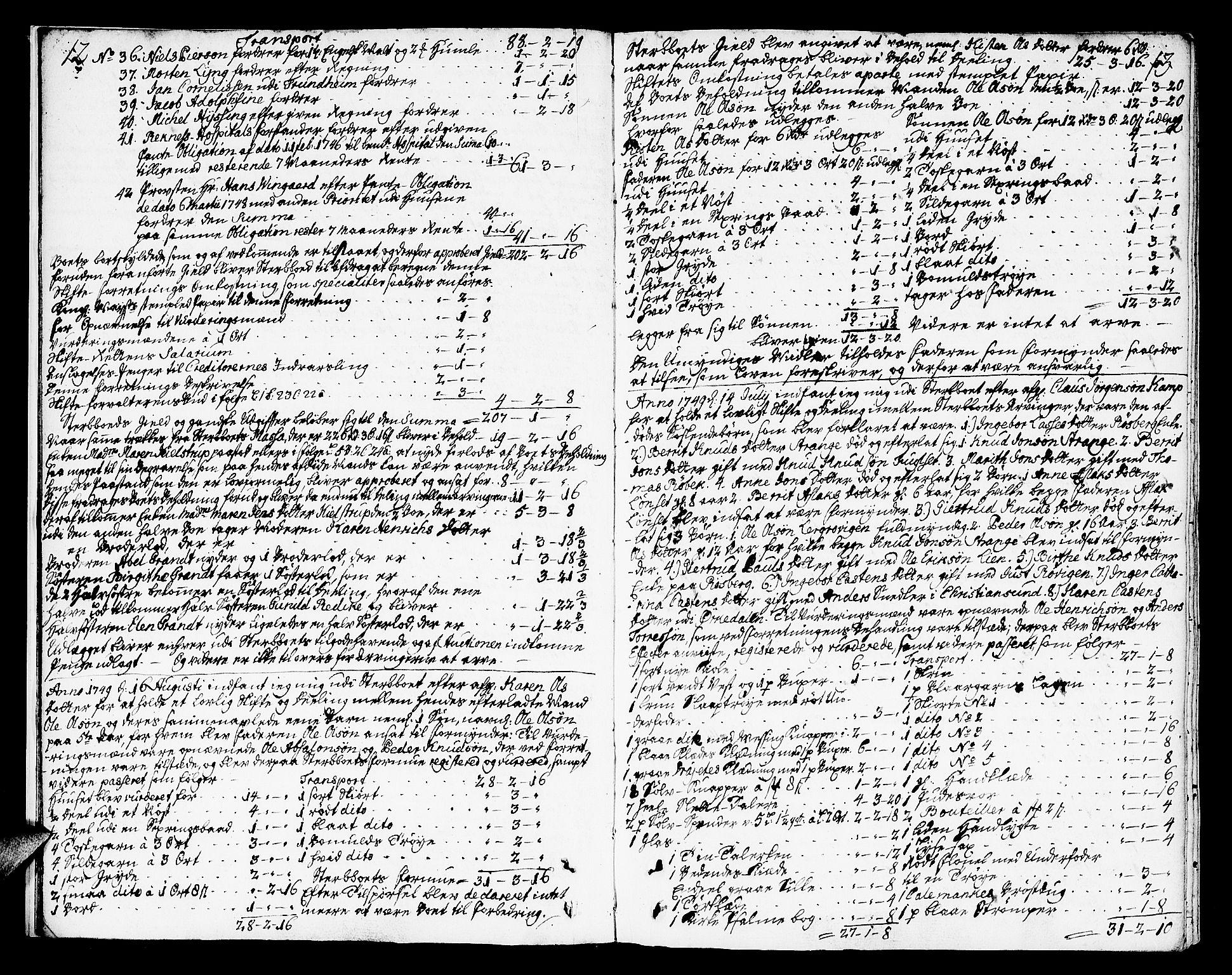 SAT, Molde byfogd, 3/3Aa/L0001: Skifteprotokoll, 1748-1768, s. 12-13