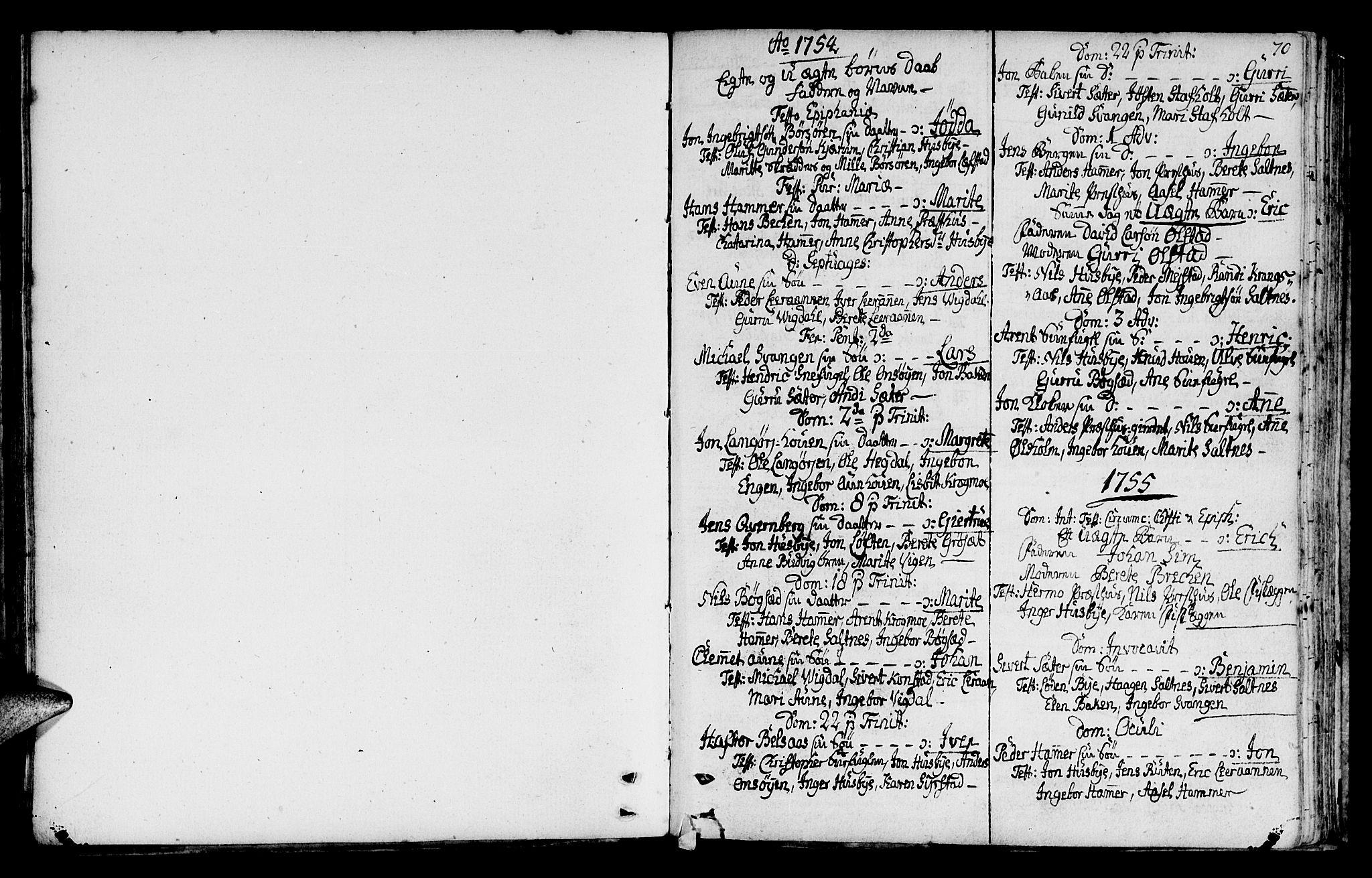 SAT, Ministerialprotokoller, klokkerbøker og fødselsregistre - Sør-Trøndelag, 666/L0784: Ministerialbok nr. 666A02, 1754-1802, s. 70