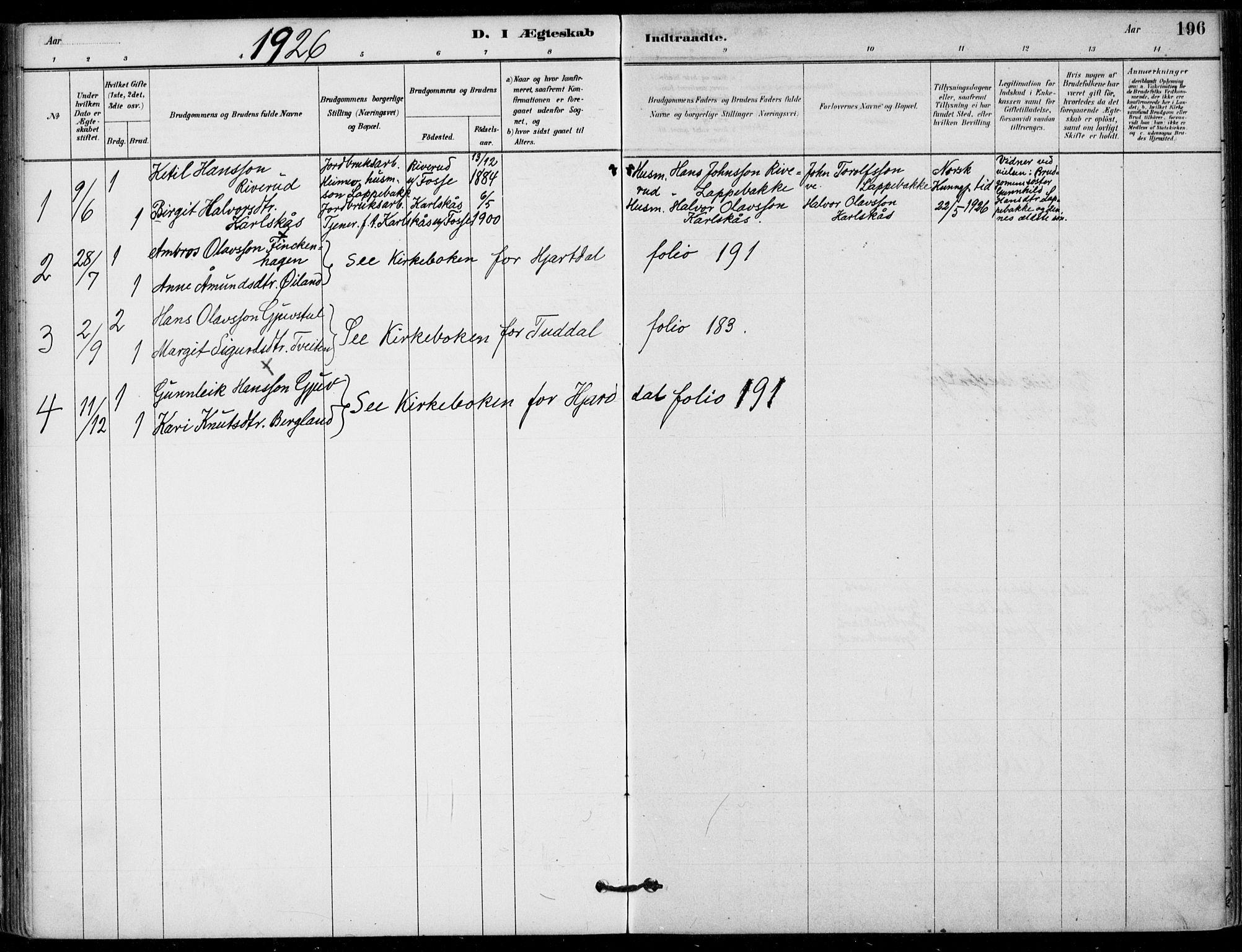 SAKO, Hjartdal kirkebøker, F/Fb/L0002: Ministerialbok nr. II 2, 1880-1932, s. 196