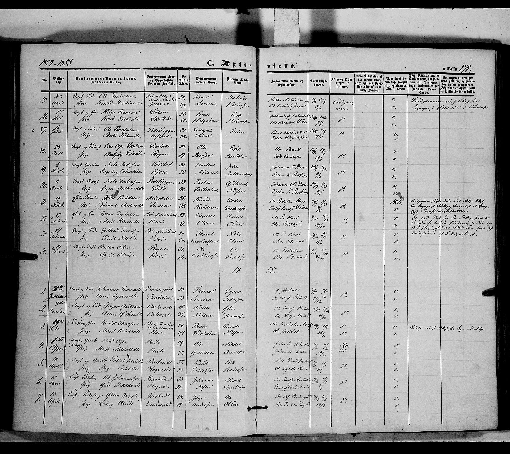 SAH, Øystre Slidre prestekontor, Ministerialbok nr. 1, 1849-1874, s. 175