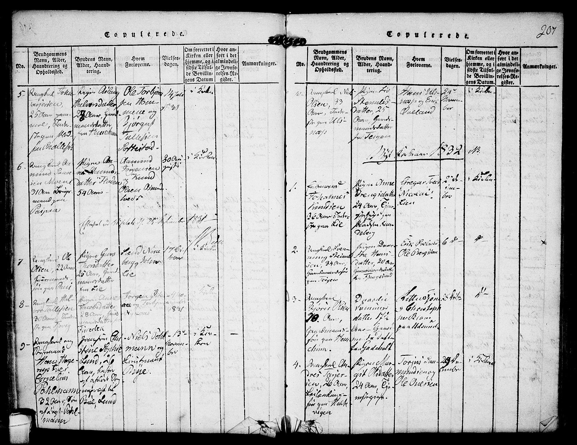 SAKO, Kviteseid kirkebøker, F/Fa/L0005: Ministerialbok nr. I 5, 1815-1836, s. 207