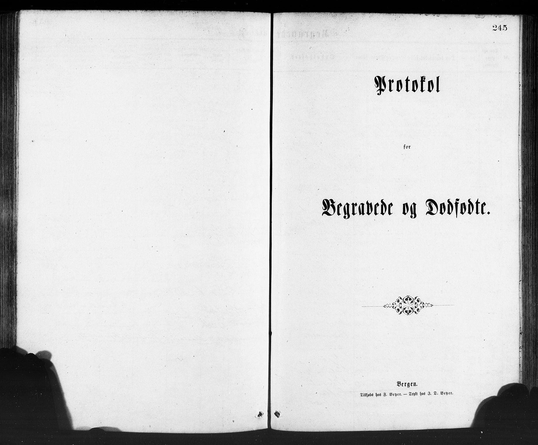 SAB, Manger sokneprestembete, H/Haa: Ministerialbok nr. A 8, 1871-1880, s. 245