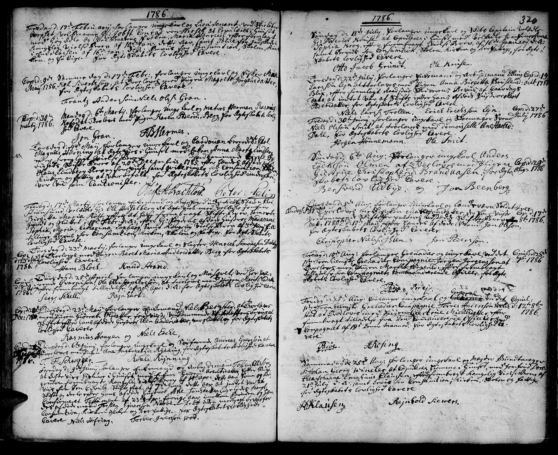 SAT, Ministerialprotokoller, klokkerbøker og fødselsregistre - Sør-Trøndelag, 601/L0038: Ministerialbok nr. 601A06, 1766-1877, s. 326