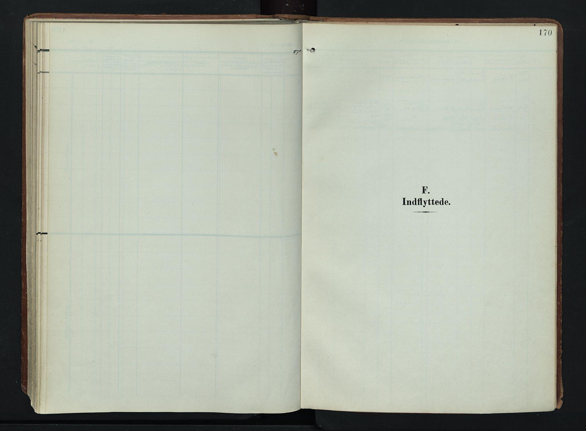 SAH, Søndre Land prestekontor, K/L0007: Ministerialbok nr. 7, 1905-1914, s. 170