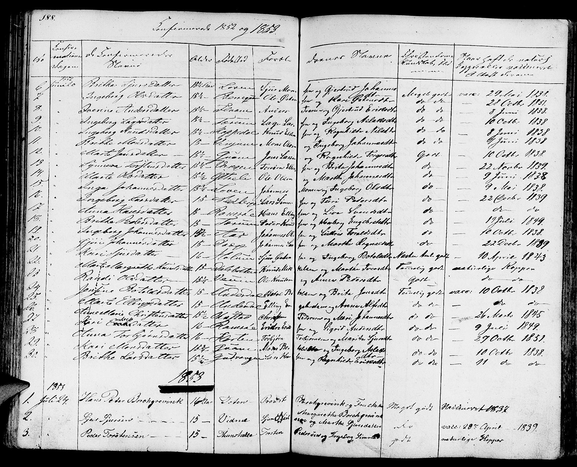 SAB, Aurland Sokneprestembete*, Ministerialbok nr. A 6, 1821-1859, s. 188