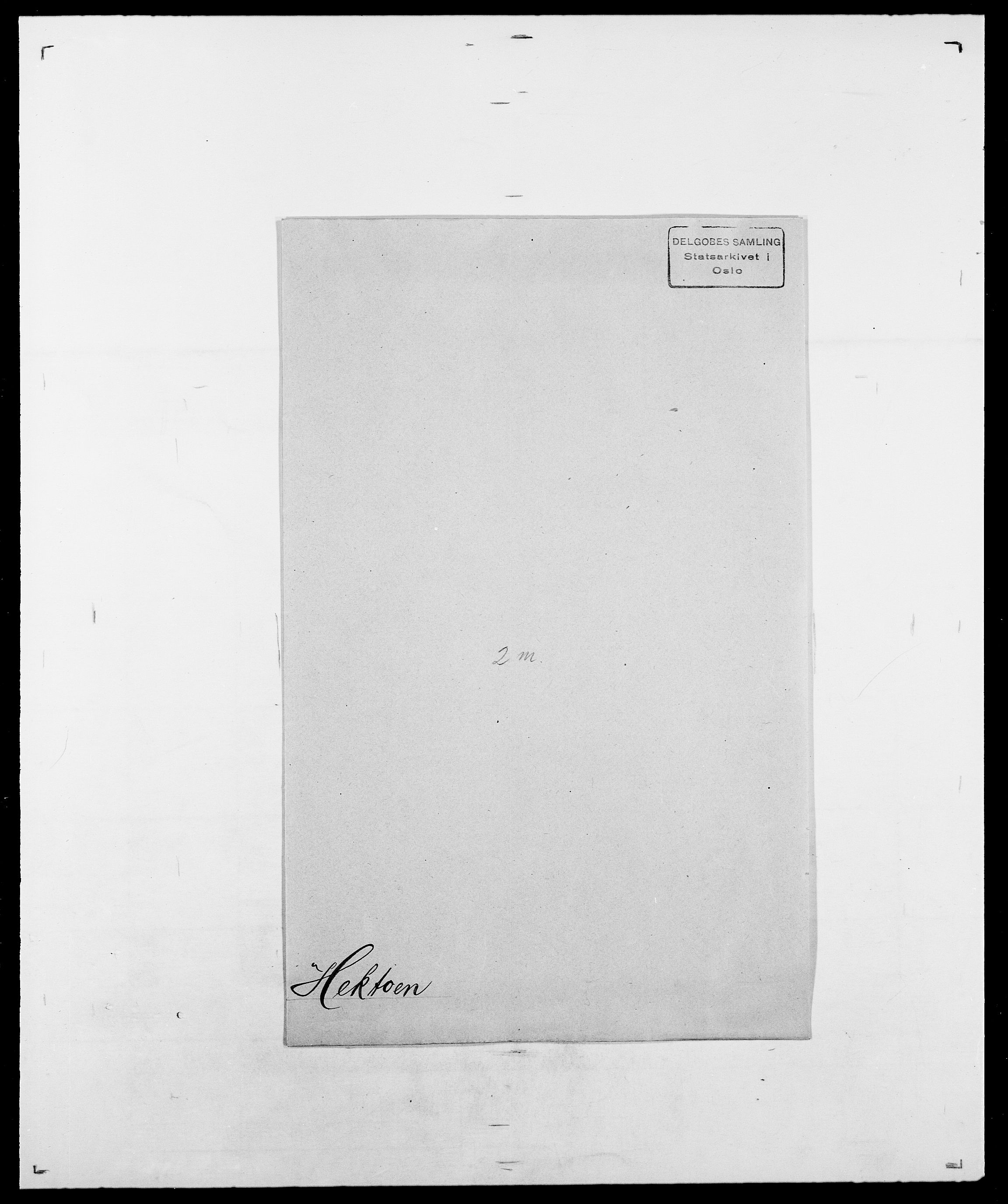 SAO, Delgobe, Charles Antoine - samling, D/Da/L0016: Hamborg - Hektoen, s. 882