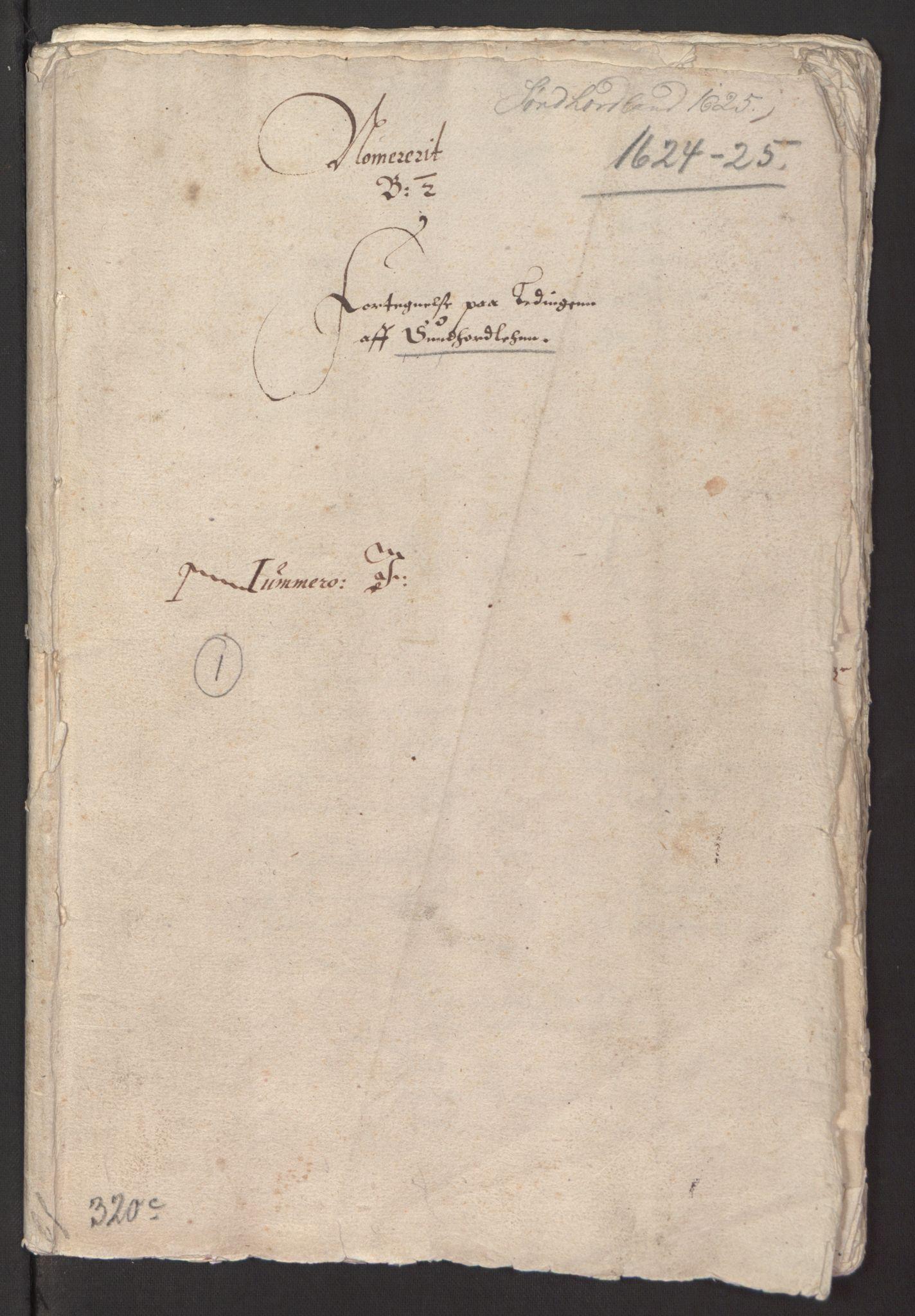 RA, Stattholderembetet 1572-1771, Ek/L0003: Jordebøker til utlikning av garnisonsskatt 1624-1626:, 1624-1625, s. 3