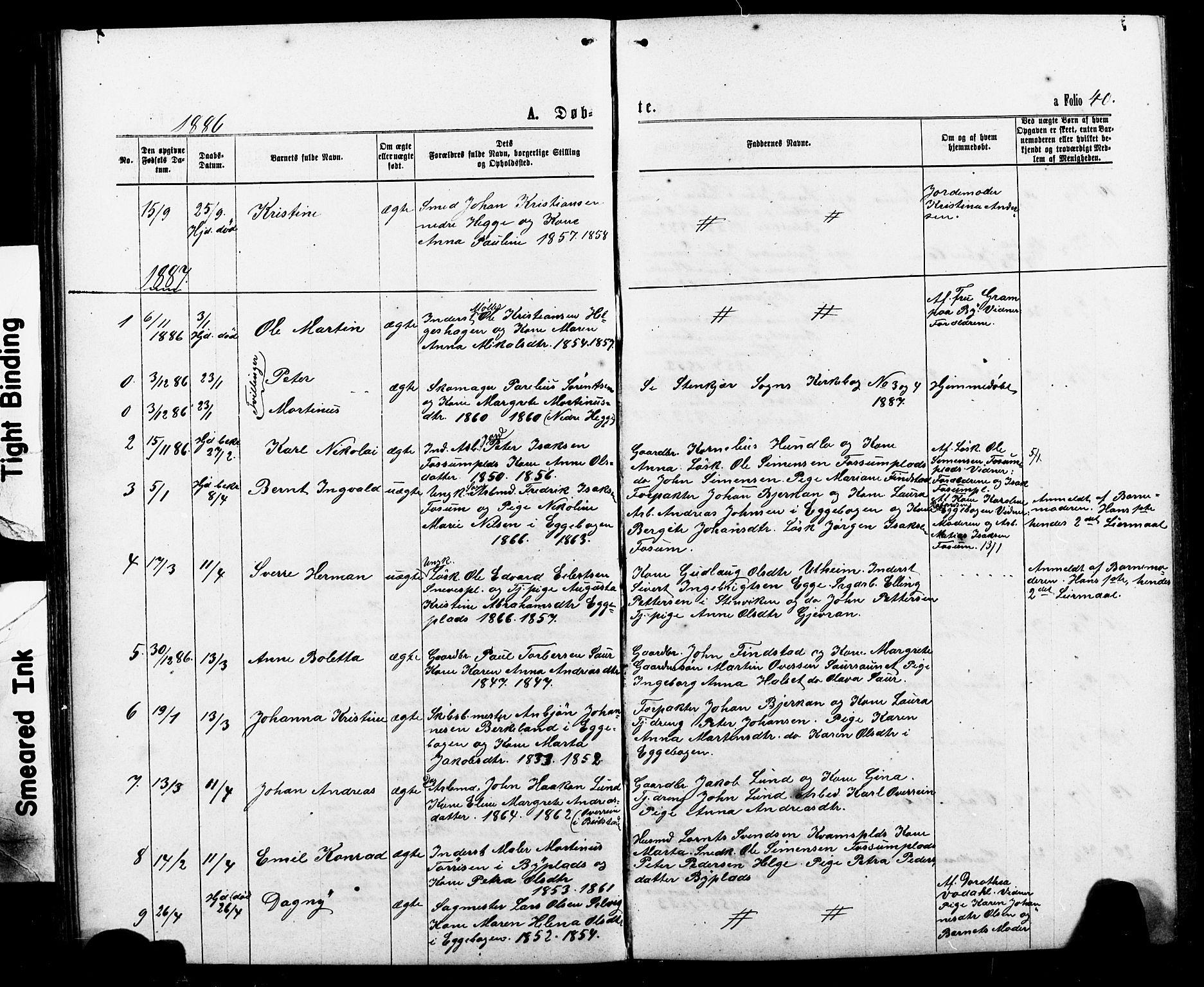 SAT, Ministerialprotokoller, klokkerbøker og fødselsregistre - Nord-Trøndelag, 740/L0380: Klokkerbok nr. 740C01, 1868-1902, s. 40